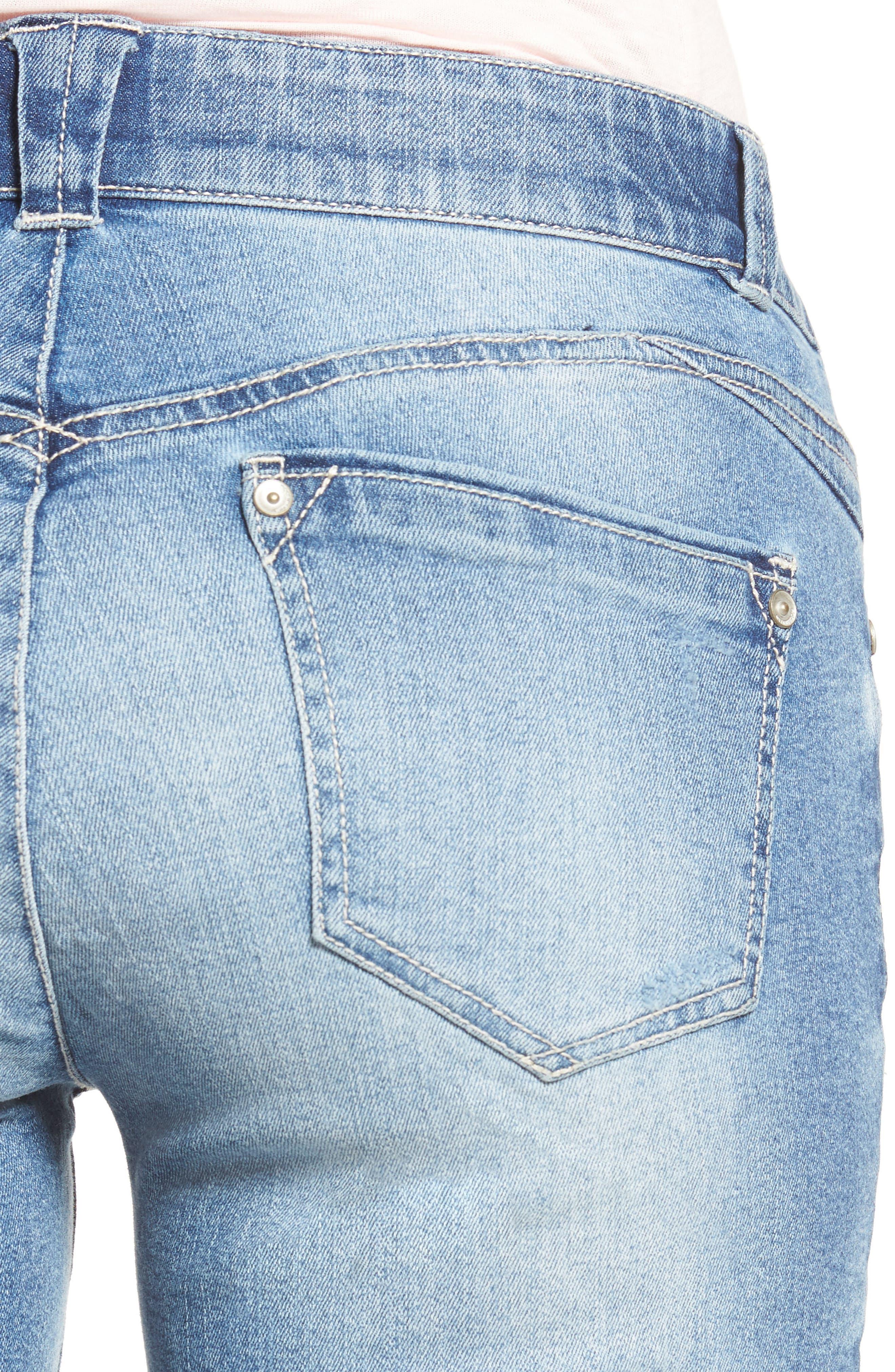 Alternate Image 4  - Wit & Wisdom Ab-solution Ripped Denim Bermuda Shorts (Regular & Petite) (Nordstrom Exclusive)