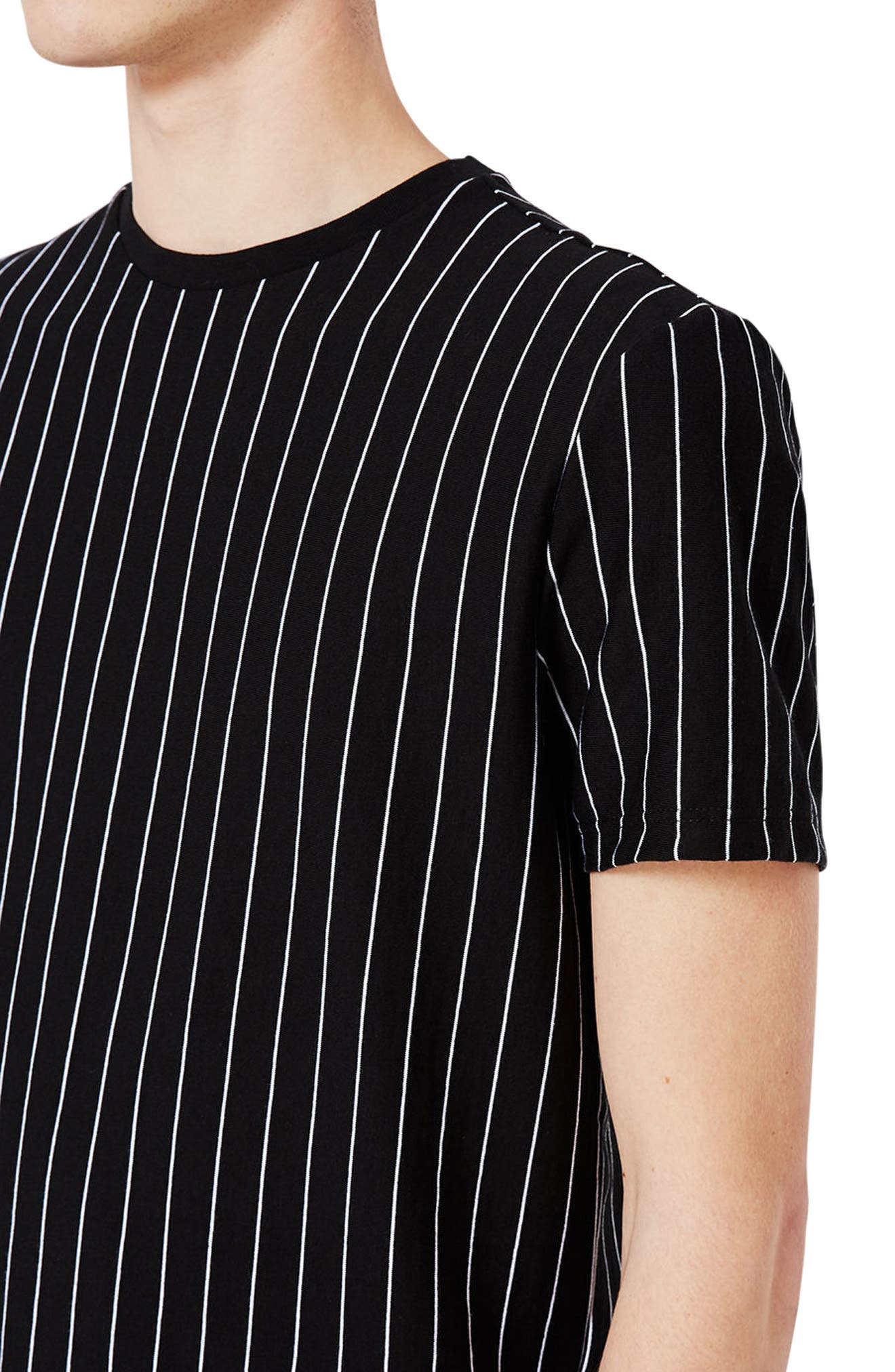 Vertical Stripe T-Shirt,                             Alternate thumbnail 4, color,                             Black Multi