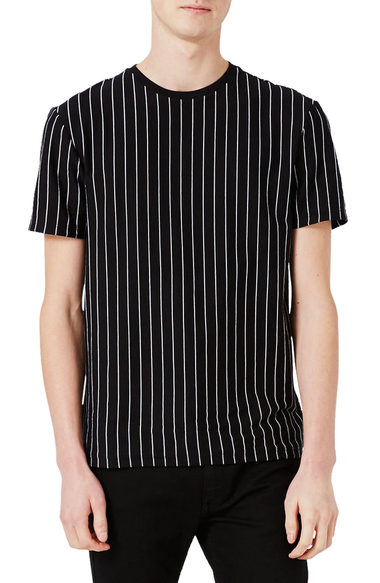 Vertical Stripe T-Shirt,                             Main thumbnail 1, color,                             Black Multi