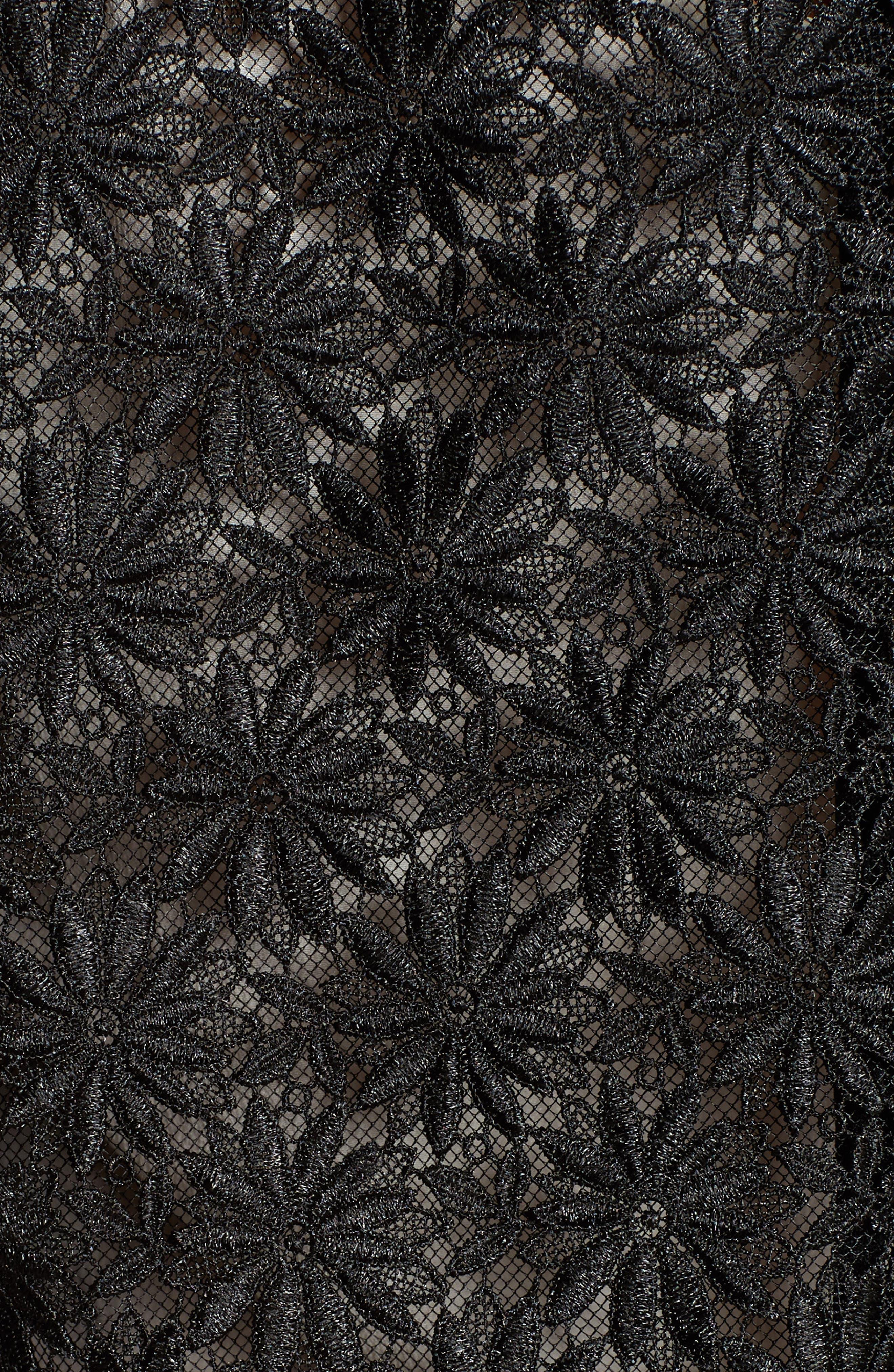 Alternate Image 5  - The Kooples Faux Leather Trim Lace Jacket