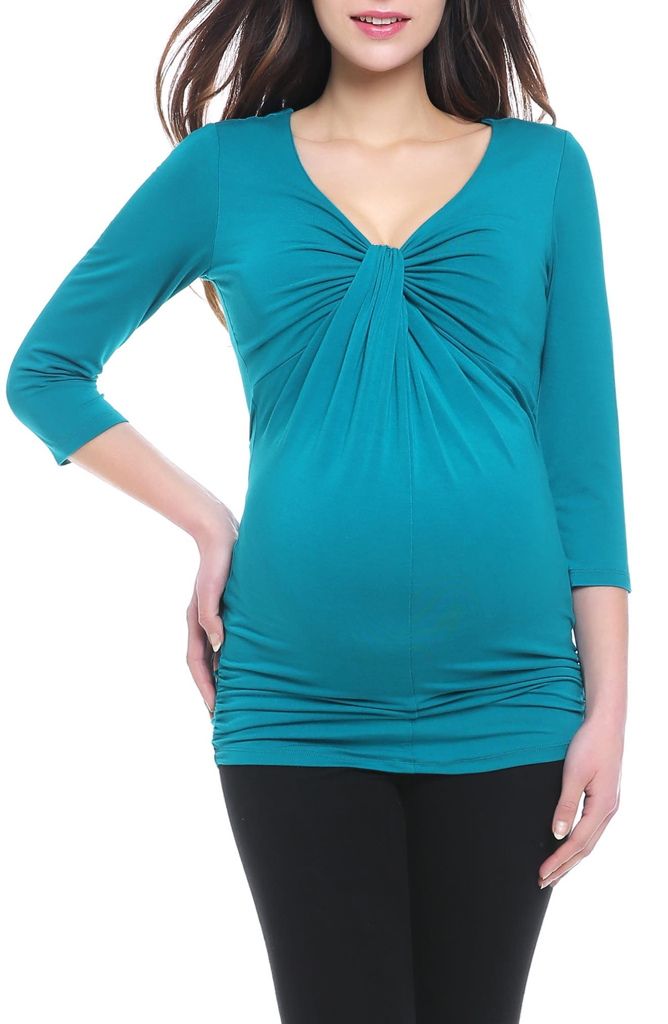 Kimi and Kai Grace Twist Knot Maternity Top