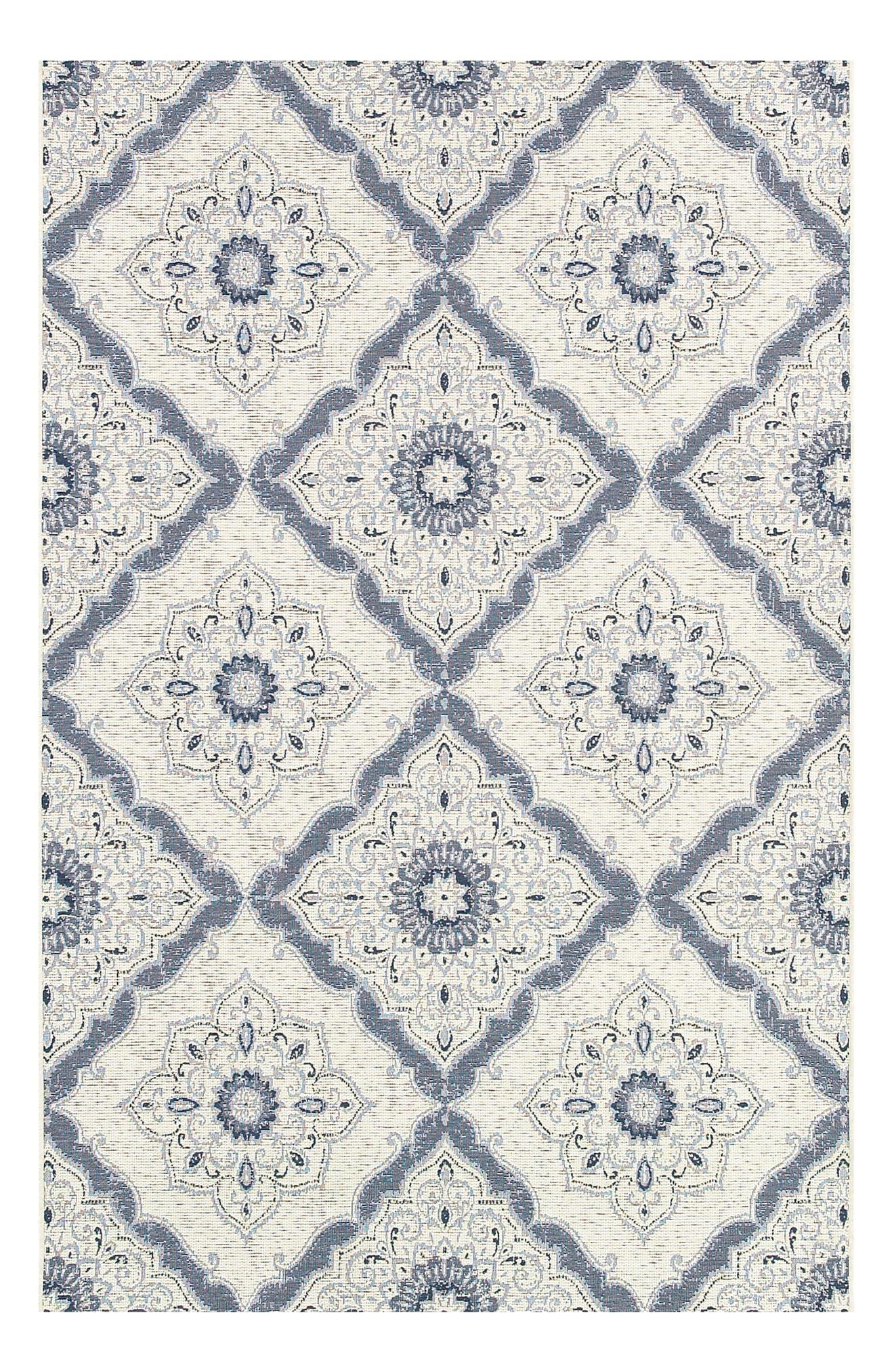 Brindisi Indoor/Outdoor Rug,                             Main thumbnail 1, color,                             Ivory/ Grey