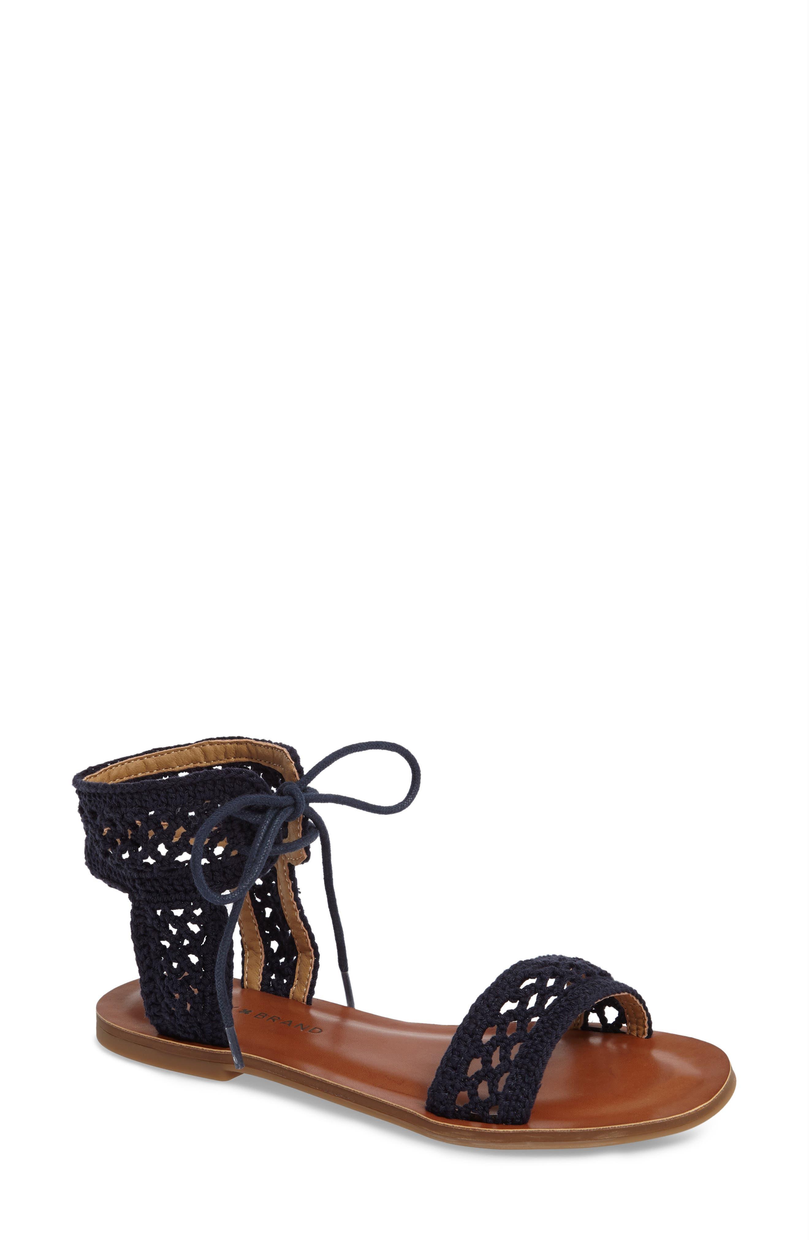 Alternate Image 1 Selected - Lucky Brand Ariah Ankle Tie Sandal (Women)
