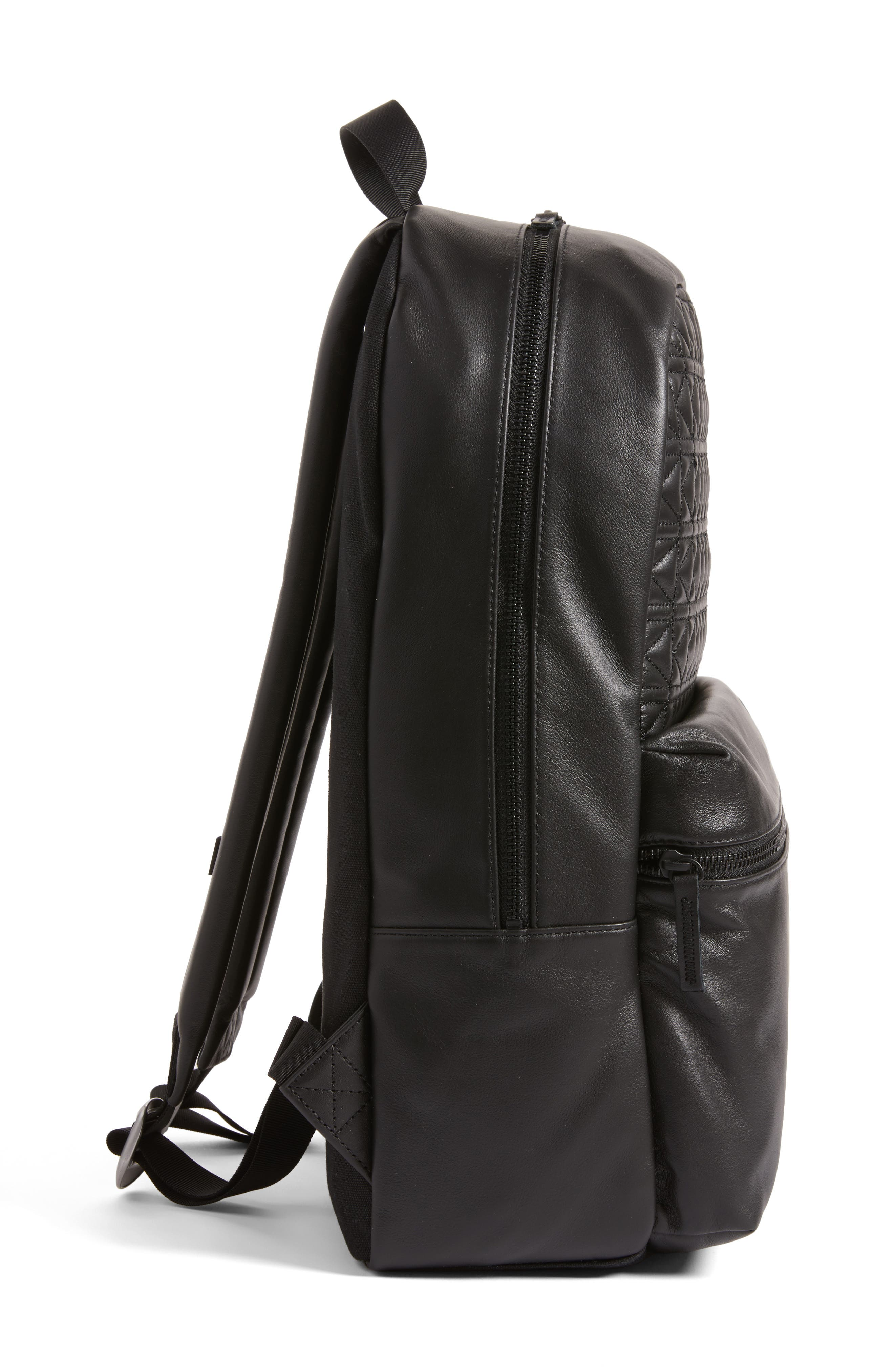 Alternate Image 5  - Vans x KARL LAGERFELD Quilted Leather Backpack