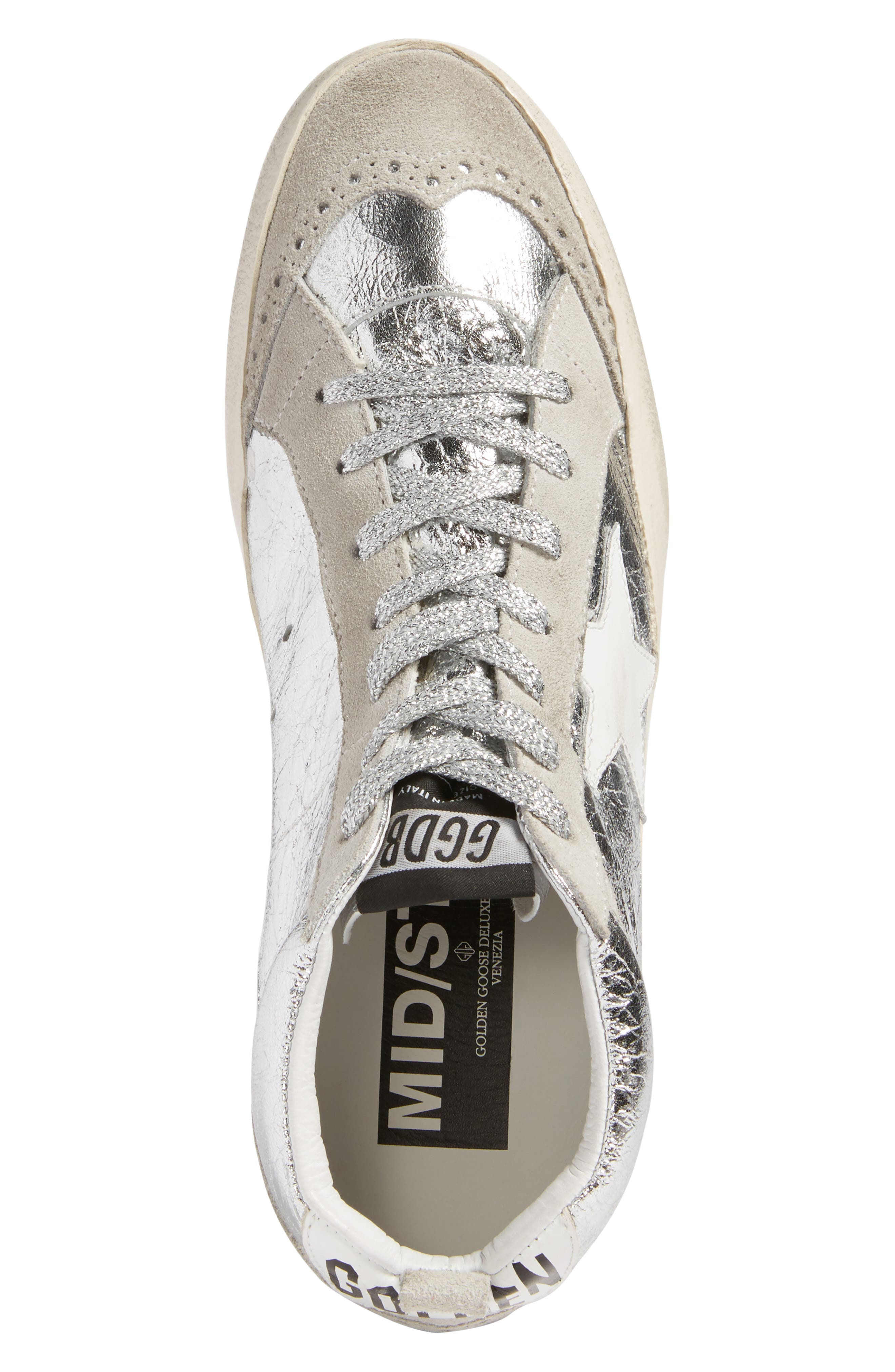 Alternate Image 5  - Golden Goose Mid Star Metallic Sneaker (Women)