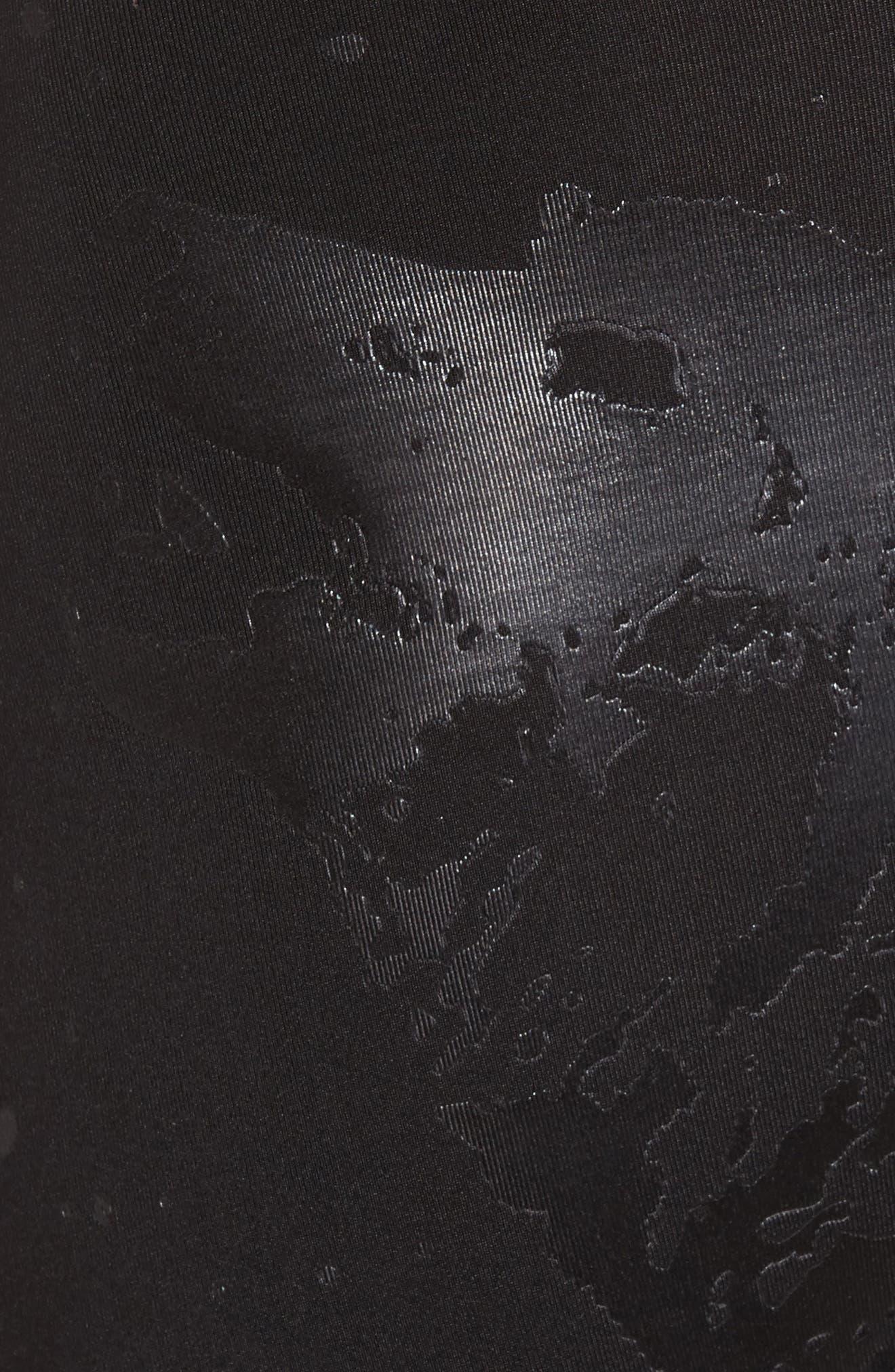 Wolf Embossed Boxer Briefs,                             Alternate thumbnail 4, color,                             Black