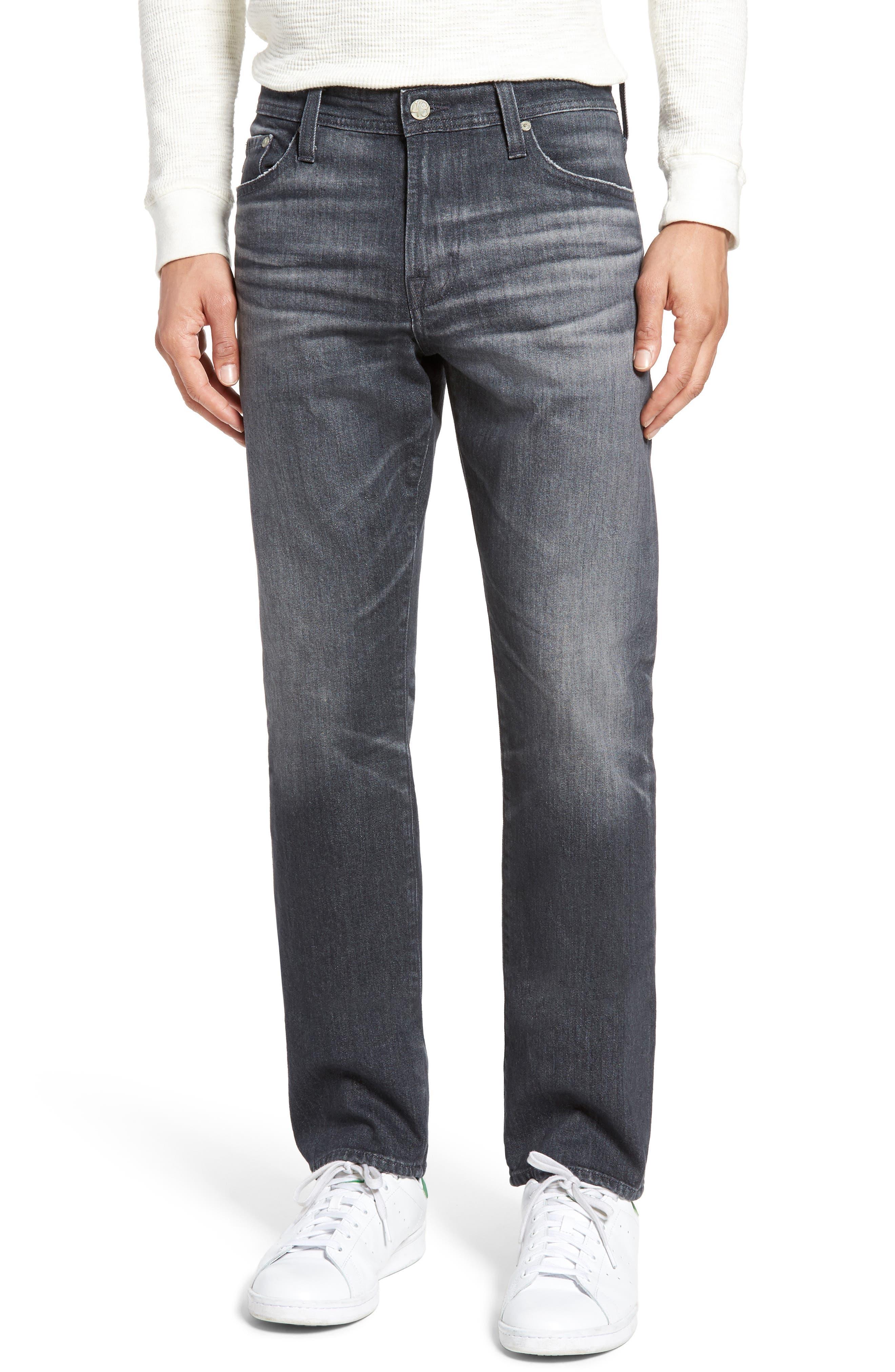 Everett Slim Straight Leg Jeans,                         Main,                         color, 5 Year Idle