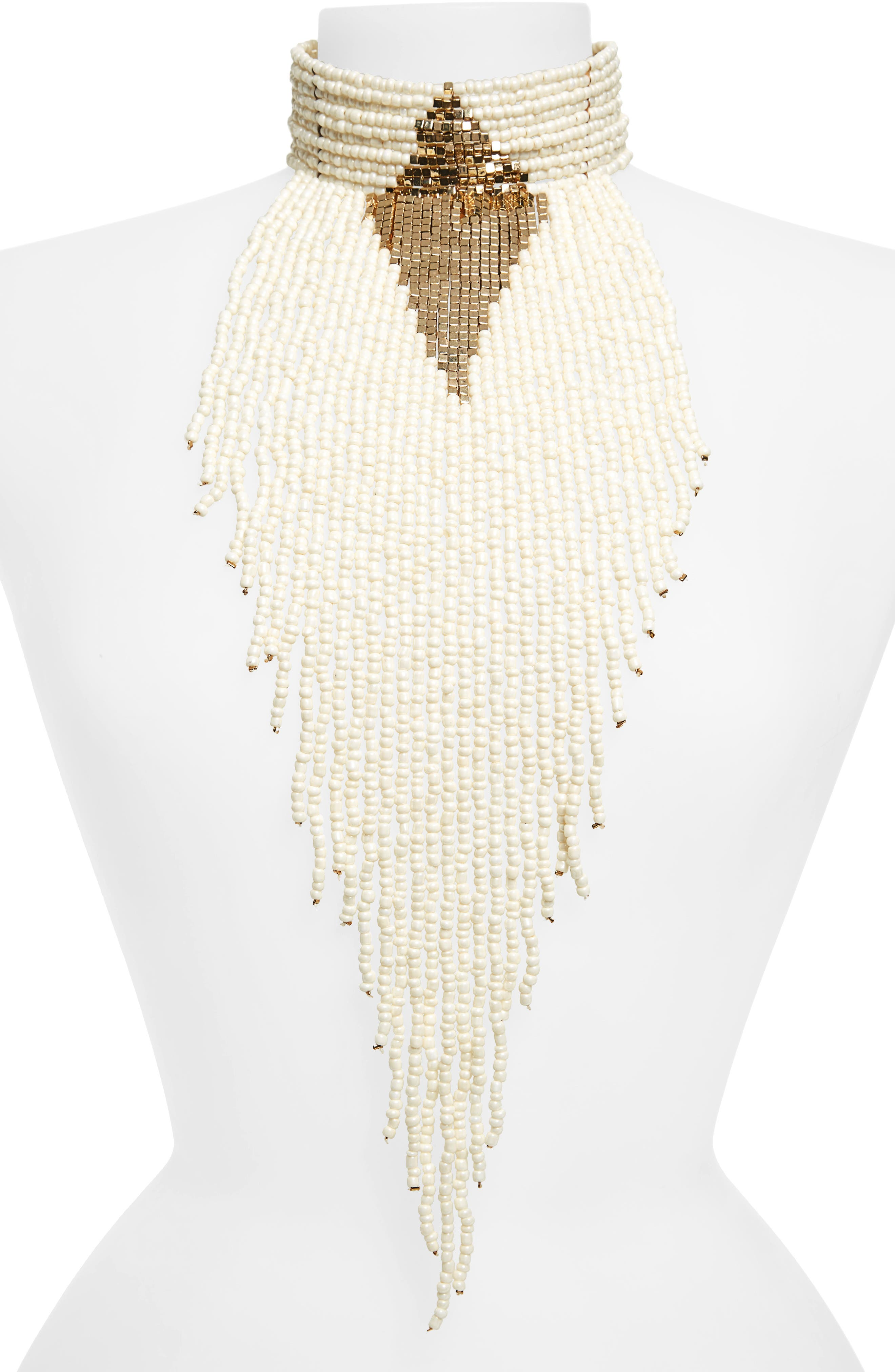 Natasha Couture Beaded Statement Choker