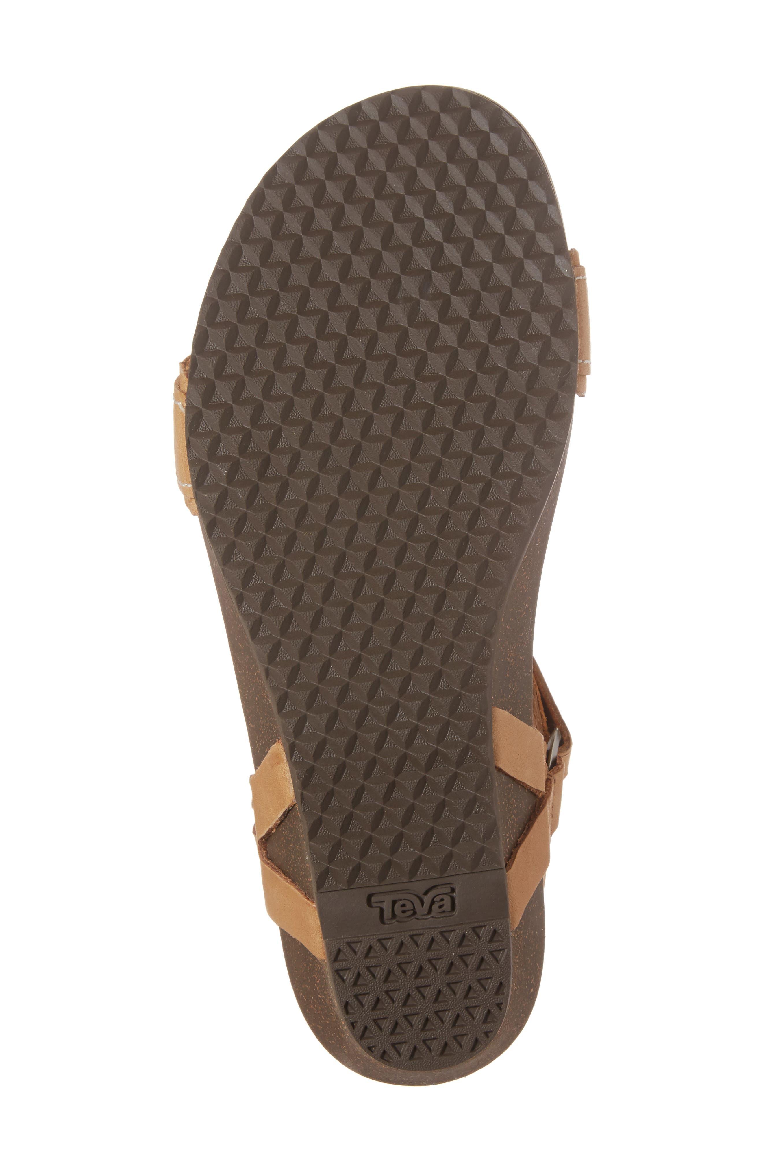Ysidro Stitch Sandal,                             Alternate thumbnail 6, color,                             Tan Leather