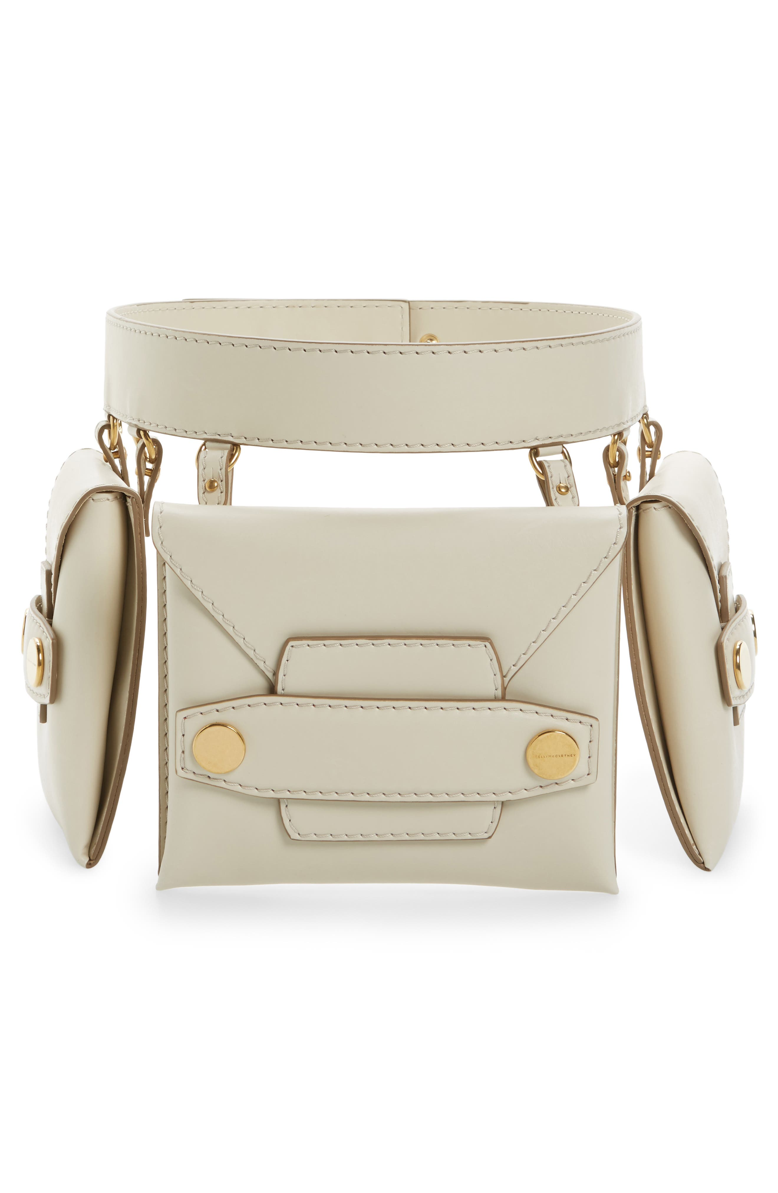 Faux Nappa Fanny Pack,                         Main,                         color, Ivory
