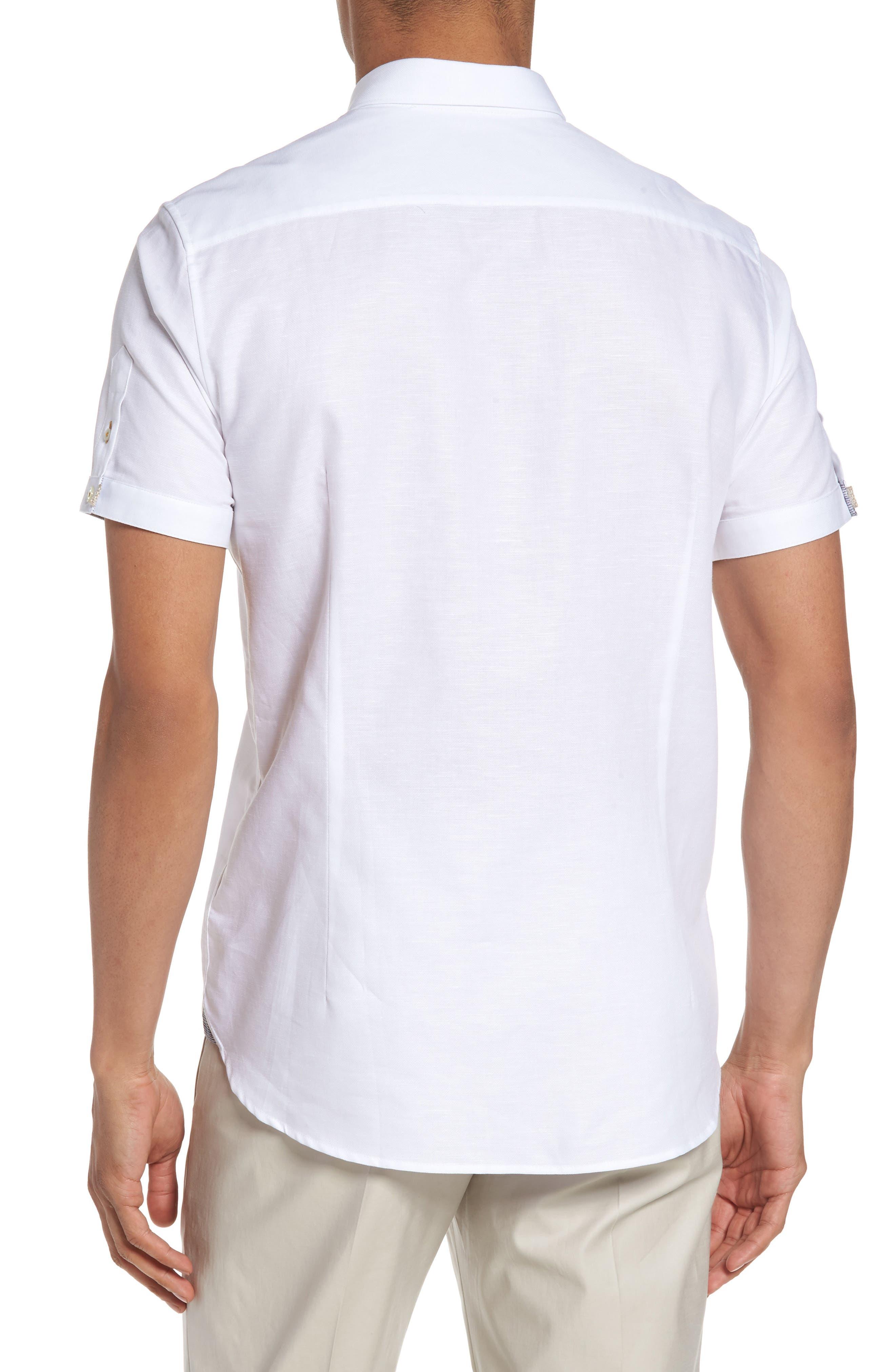 Alternate Image 2  - Ted Baker London Palpin Extra Slim Fit Cotton & Linen Sport Short