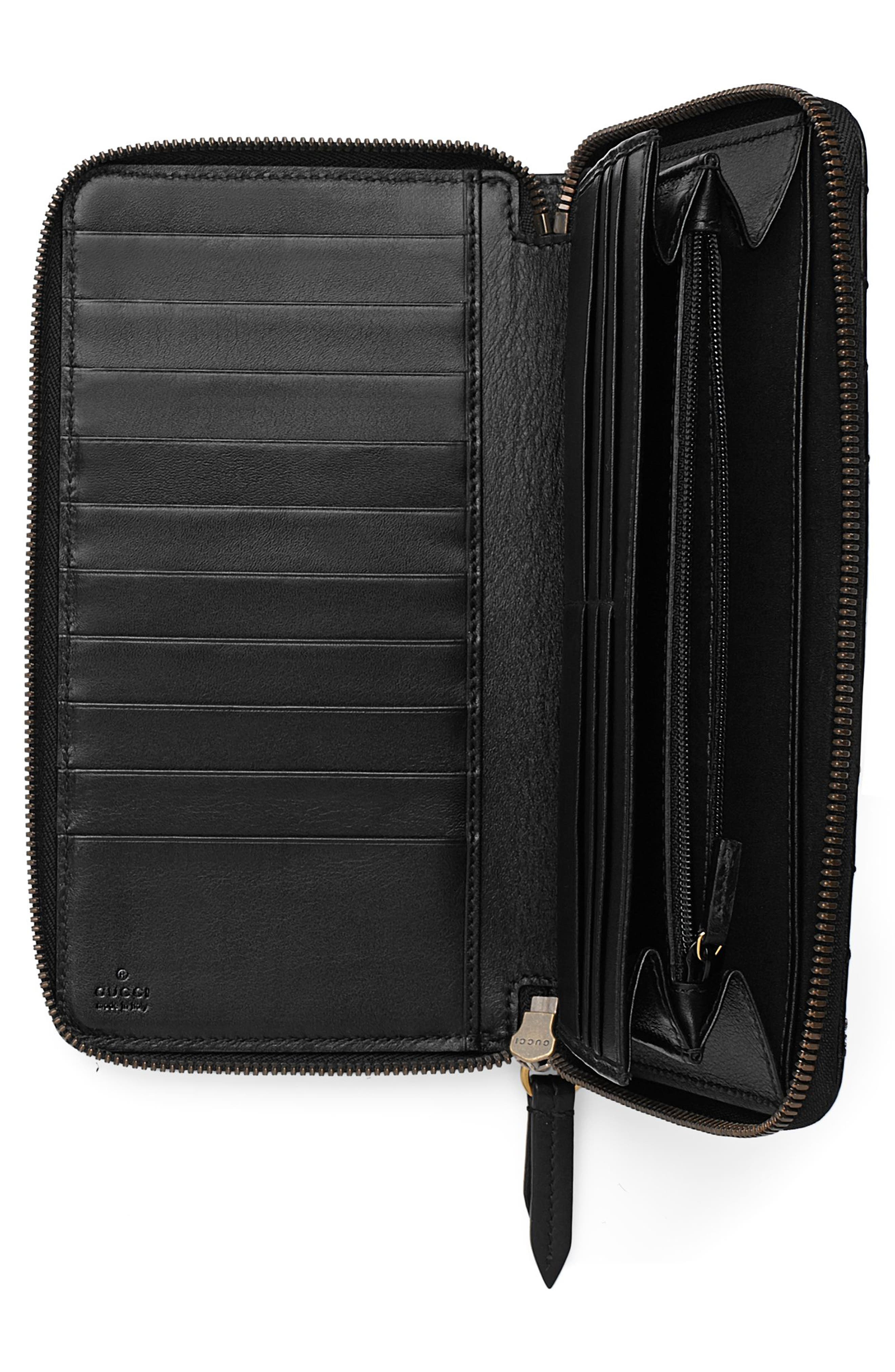 Alternate Image 2  - Gucci GG Marmont Matelassé Leather Zip-Around Wallet