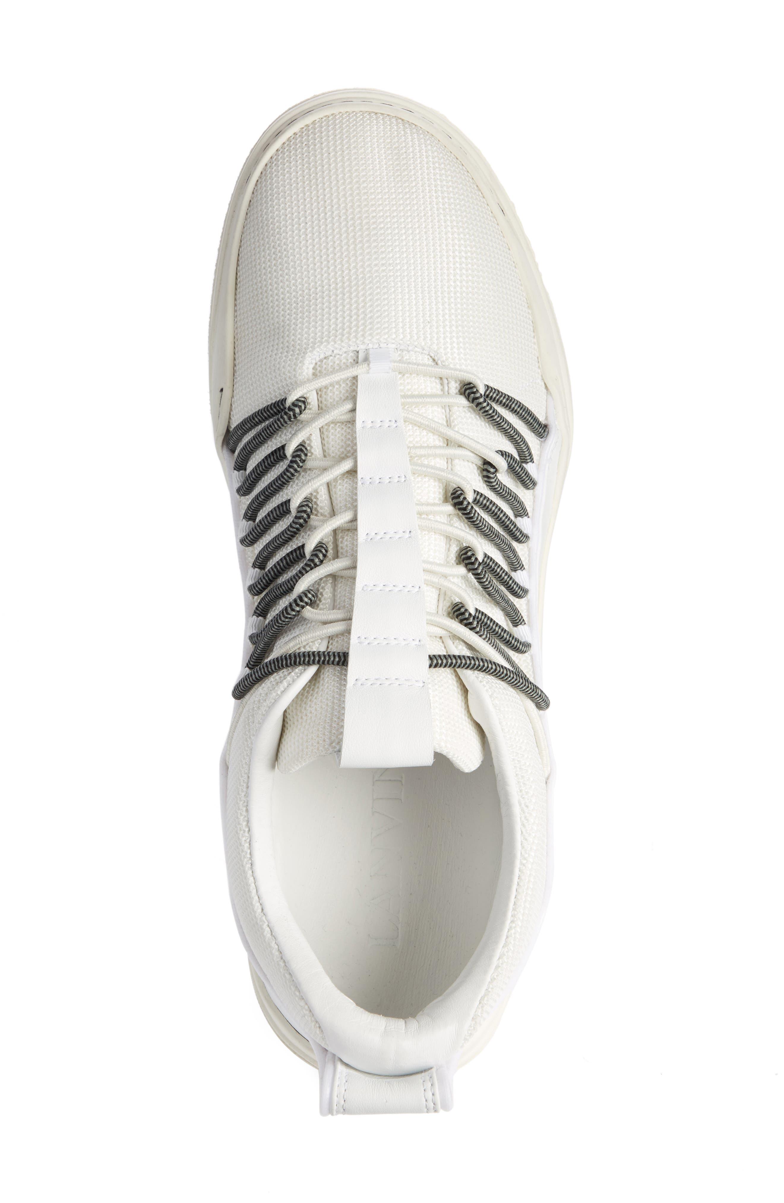 Elastic Sneaker,                             Alternate thumbnail 3, color,                             White