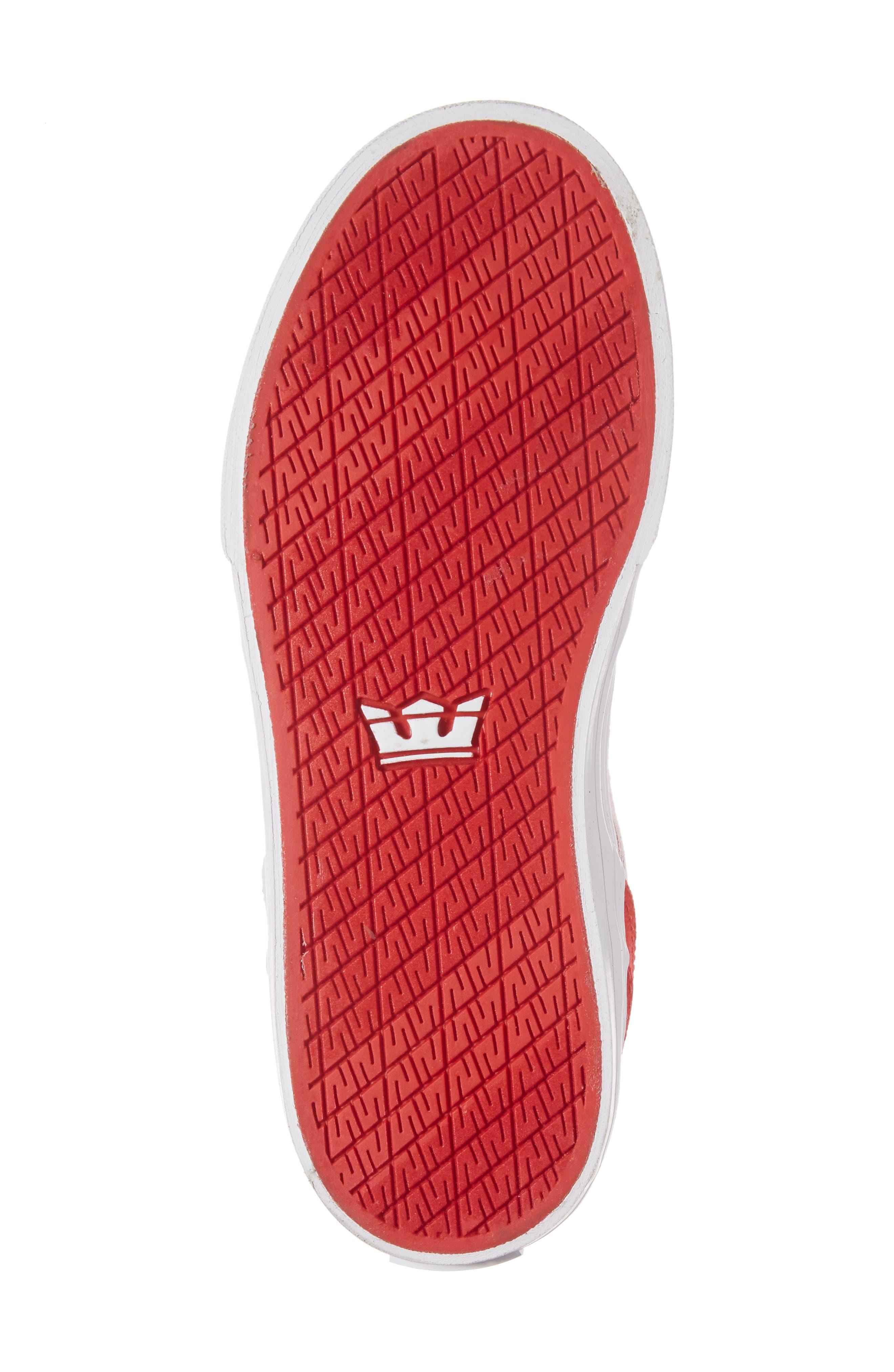 Alternate Image 6  - Supra Vaider High Top Sneaker (Toddler, Little Kid & Big Kid)