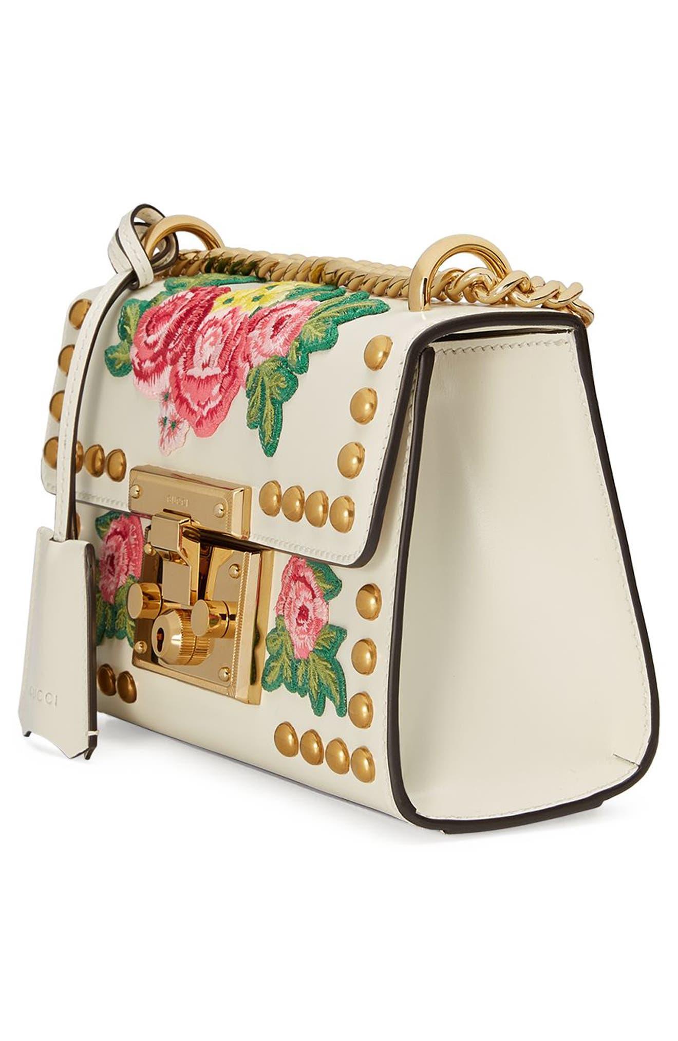 Alternate Image 4  - Gucci Small Padlock Embroidered Leather Shoulder Bag
