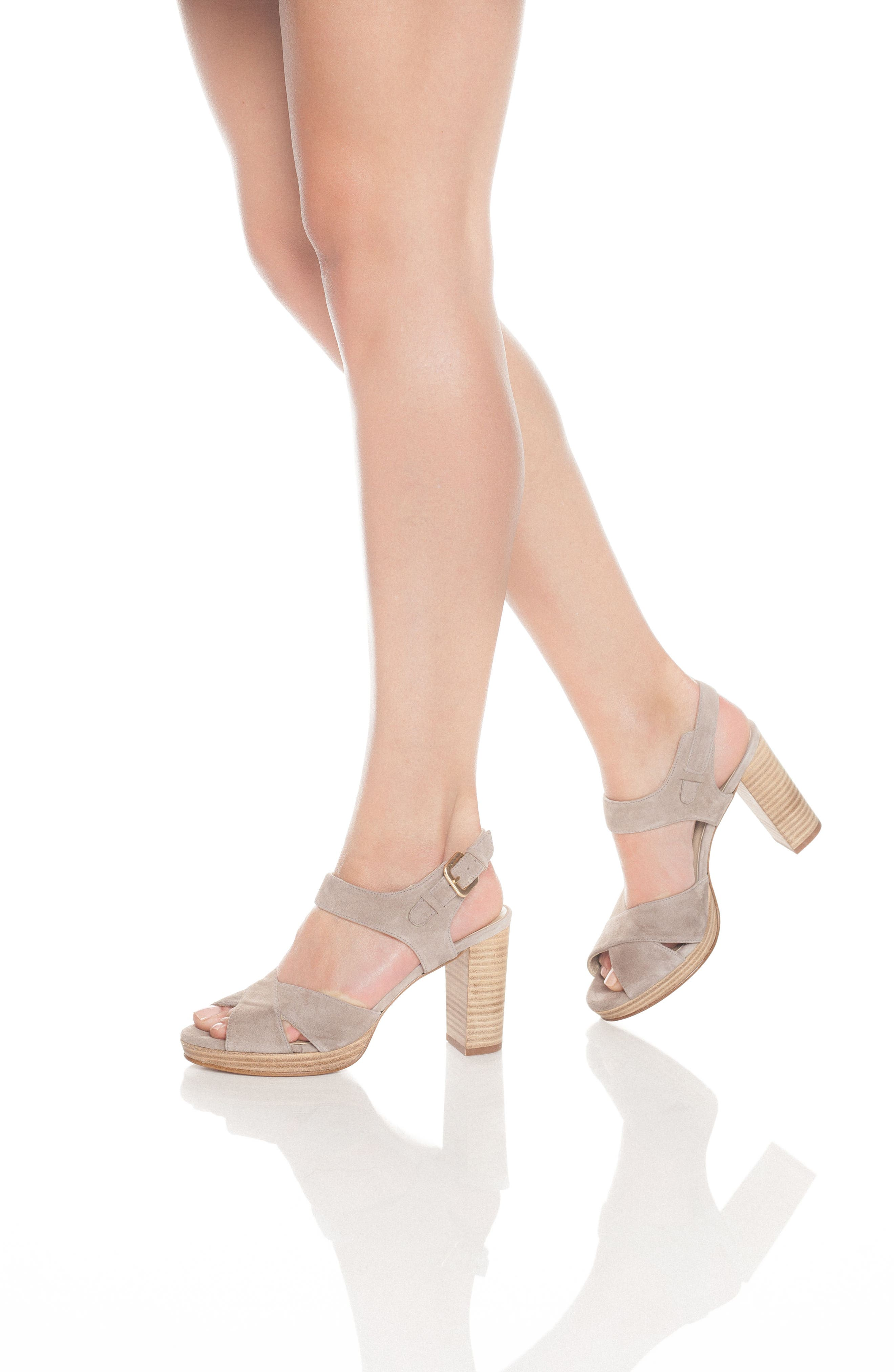 Tango Sandal,                             Alternate thumbnail 5, color,                             Taupe Suede