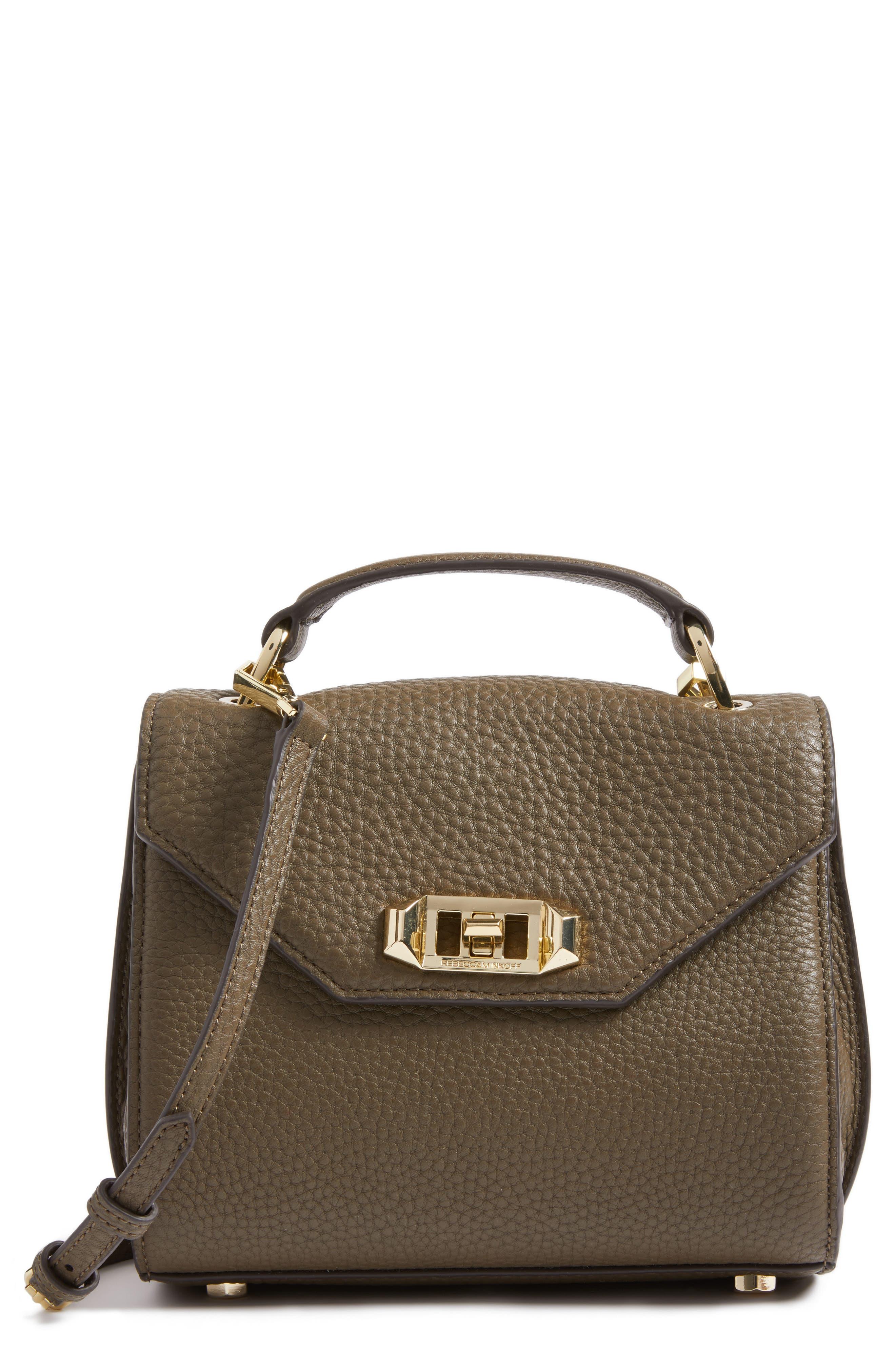 REBECCA MINKOFF Top Handle Leather Satchel