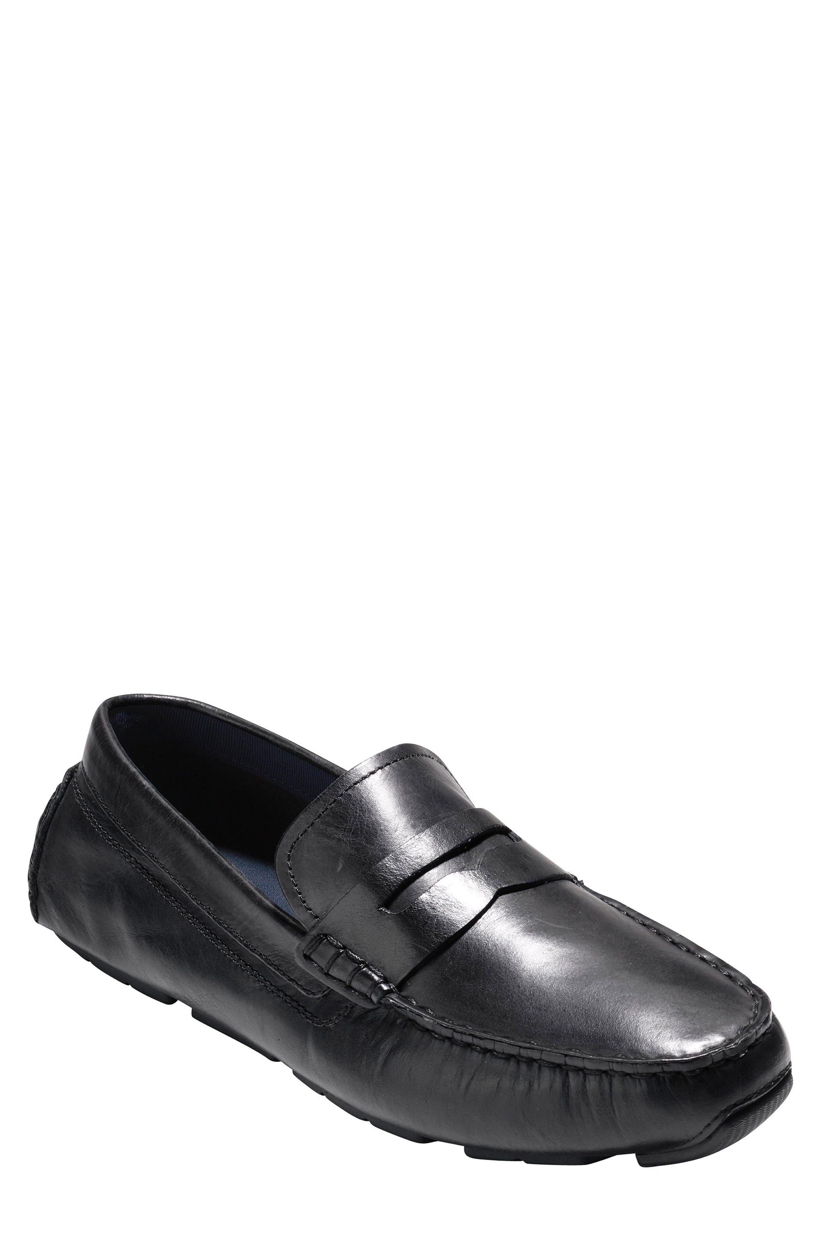 Kelson Driving Shoe,                             Main thumbnail 1, color,                             Black
