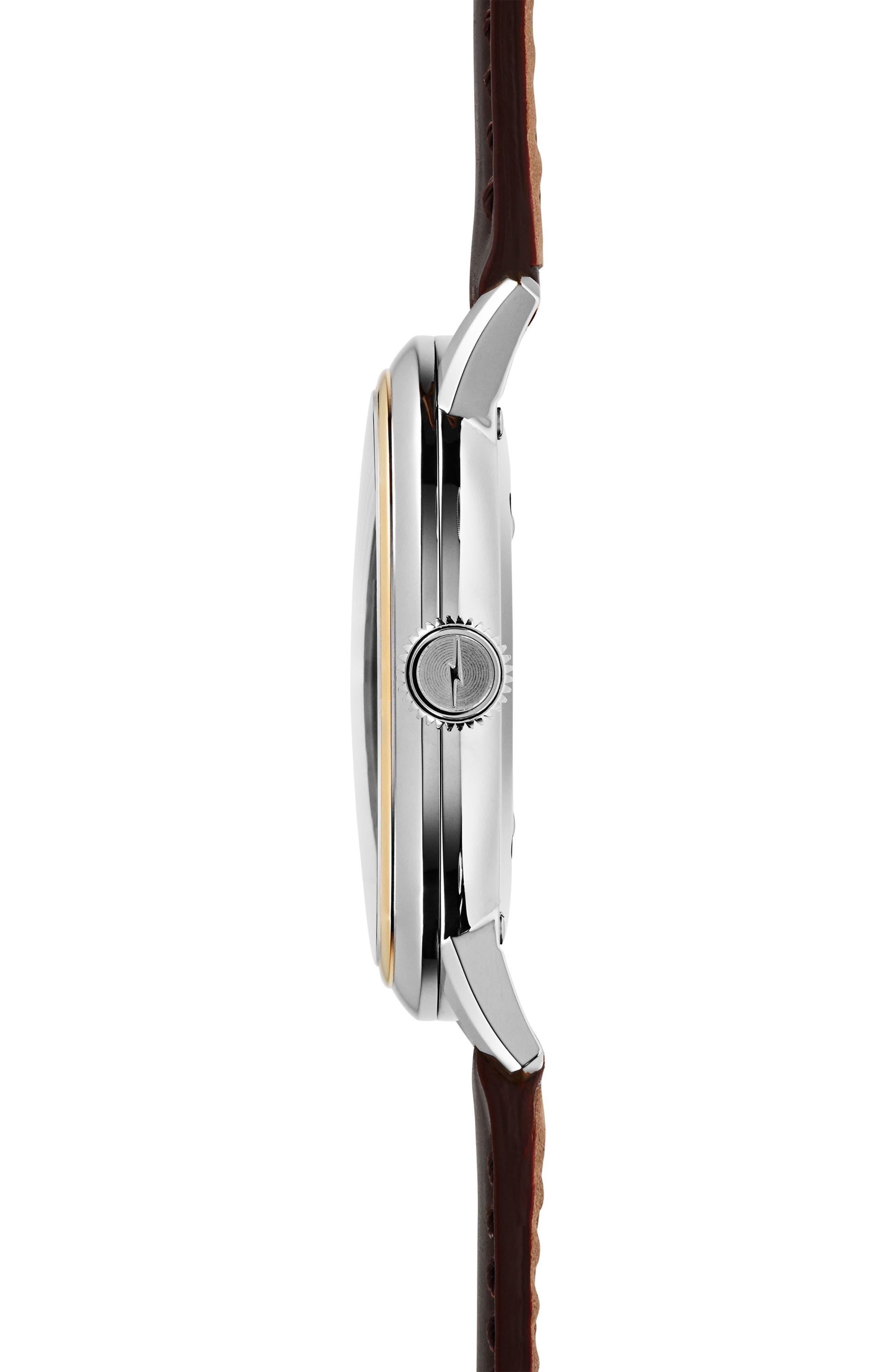 Alternate Image 4  - Shinola Bedrock Leather Strap Watch, 42mm