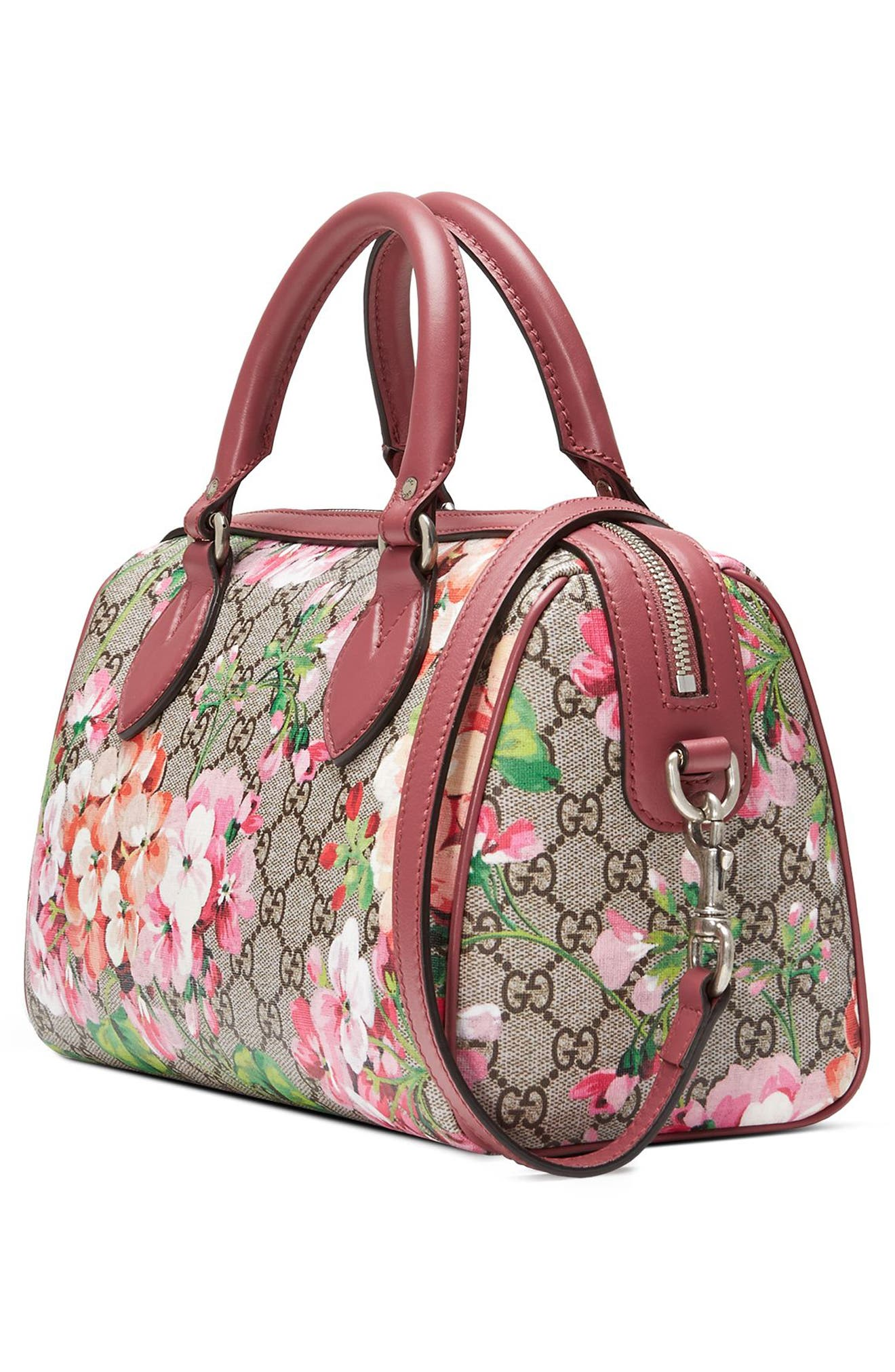 Alternate Image 4  - Gucci Small Blooms Top Handle GG Supreme Canvas Bag