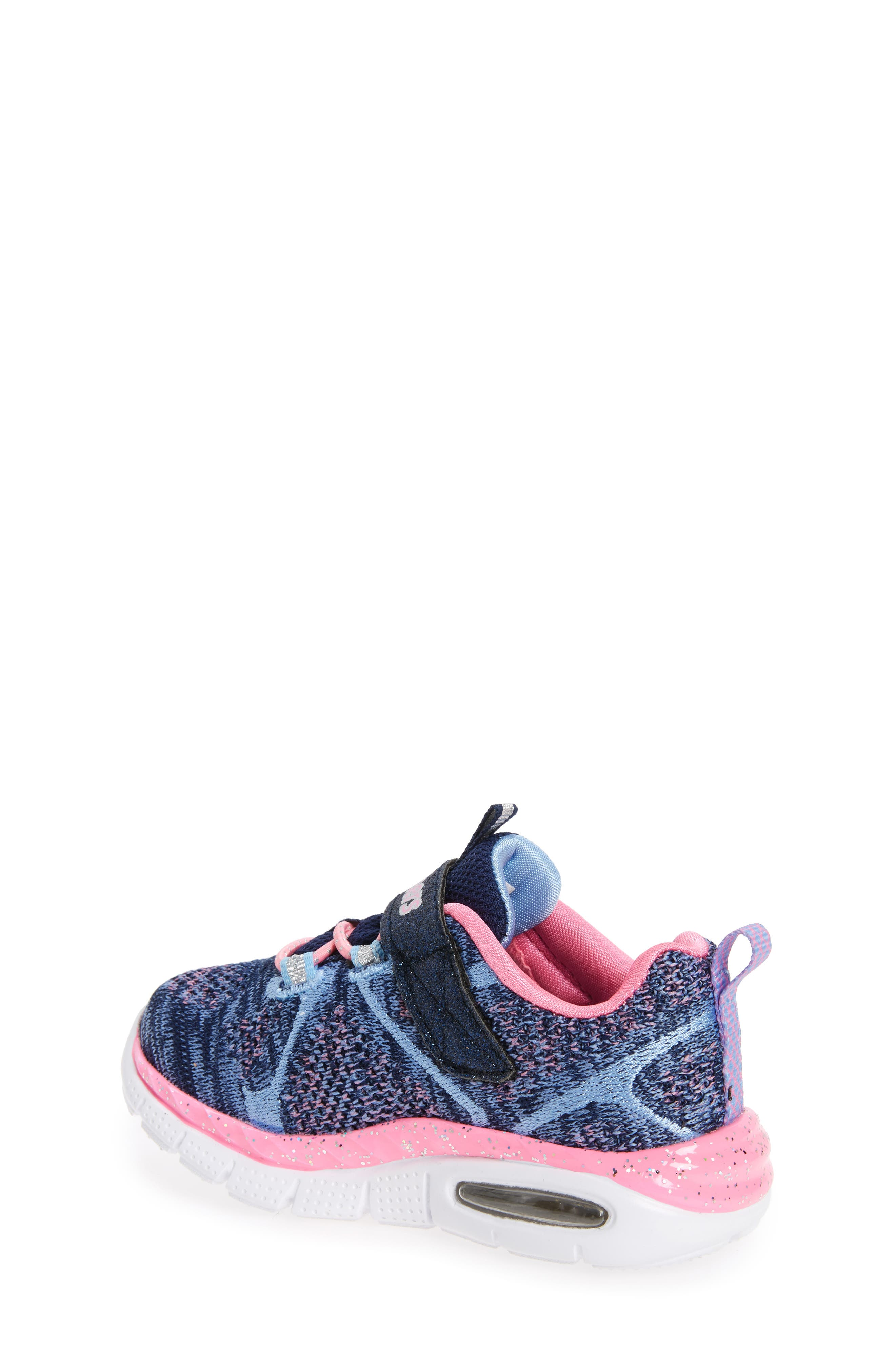 Air Appeal Breezy Baby Sneaker,                             Alternate thumbnail 2, color,                             Navy/ Pink