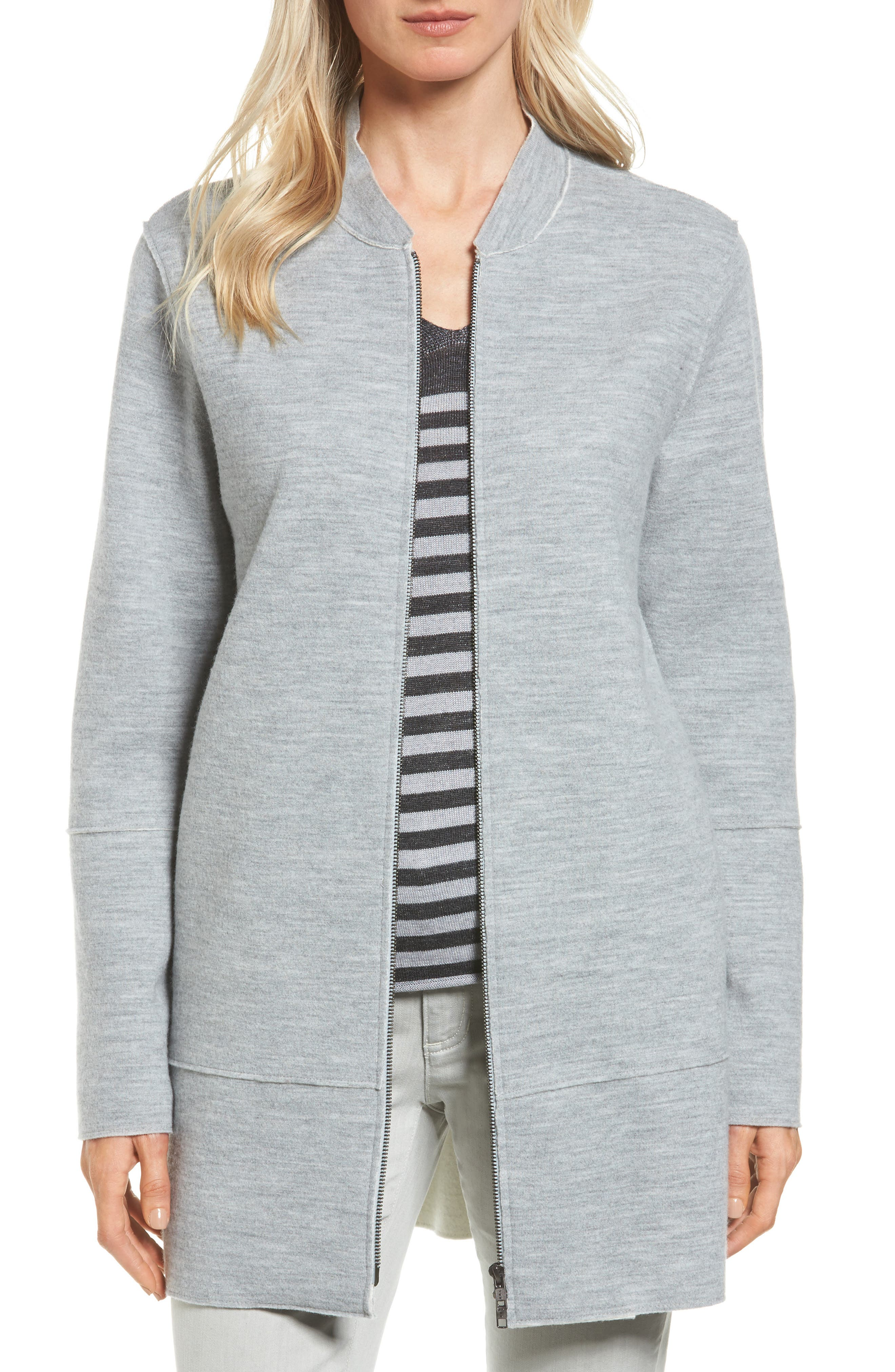 Eileen Fisher Long Bomber Jacket (Regular & Petite)