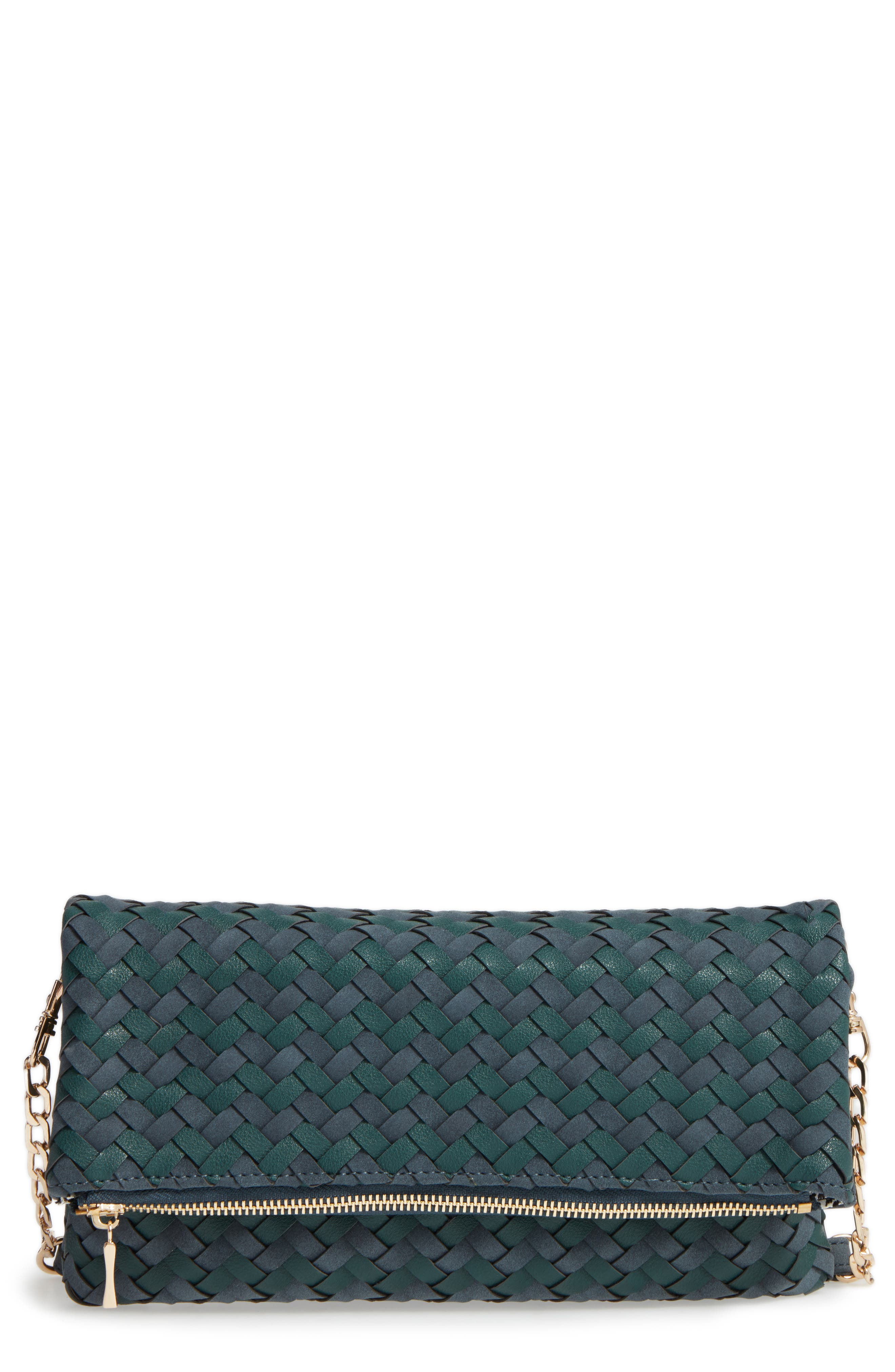 Marlee Woven Clutch,                             Main thumbnail 1, color,                             Navy
