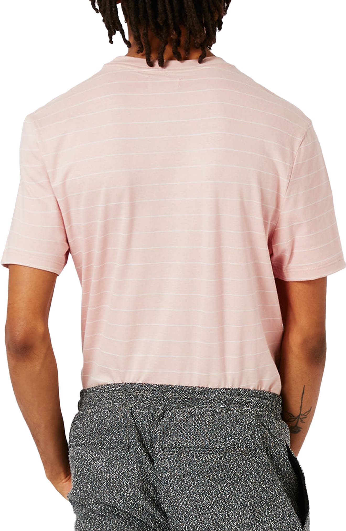 Alternate Image 3  - Topman Slim Fit Stripe T-Shirt