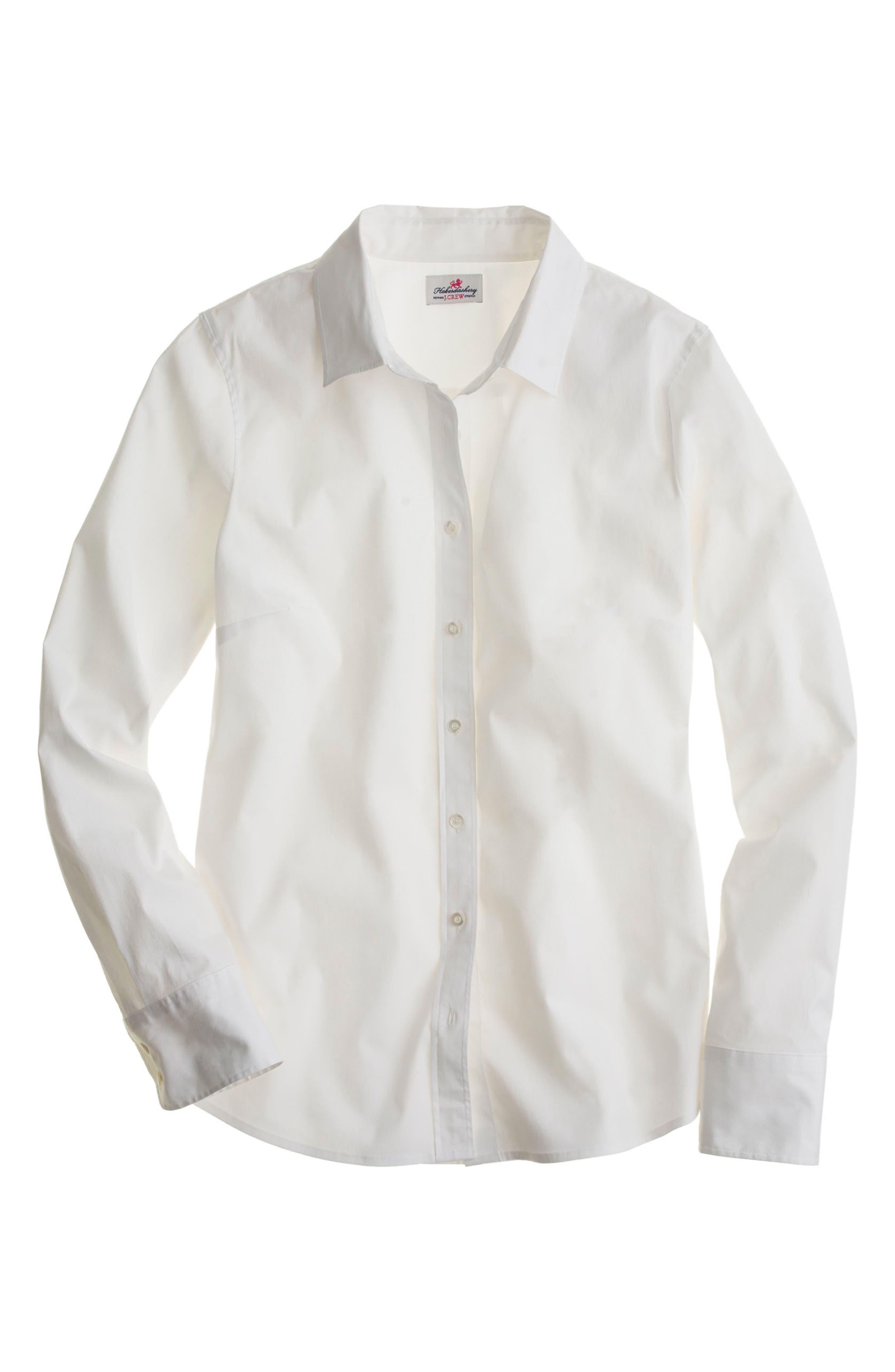 Main Image - J.Crew Stretch Perfect Shirt (Regular & Petite)