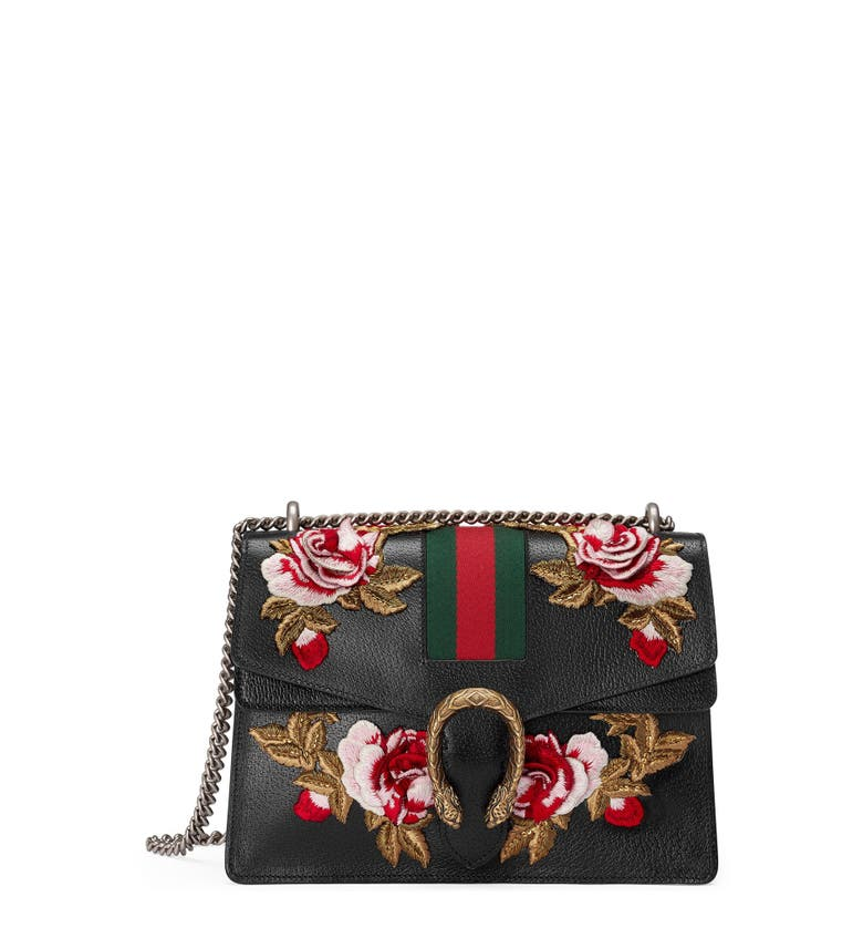 Gucci medium dionysus embroidered roses leather shoulder