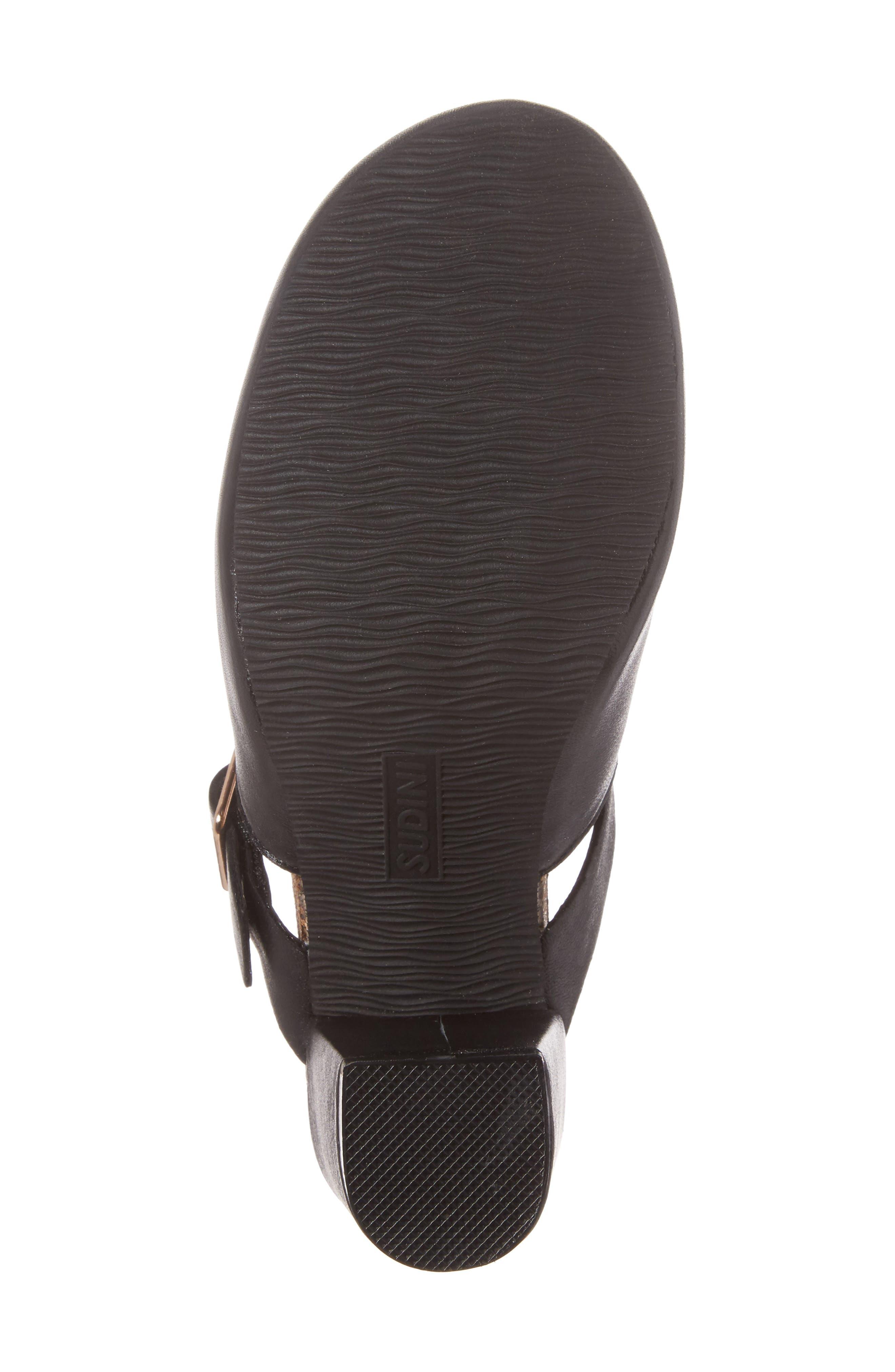 Cindy Block Heel Mule,                             Alternate thumbnail 6, color,                             Black Leather
