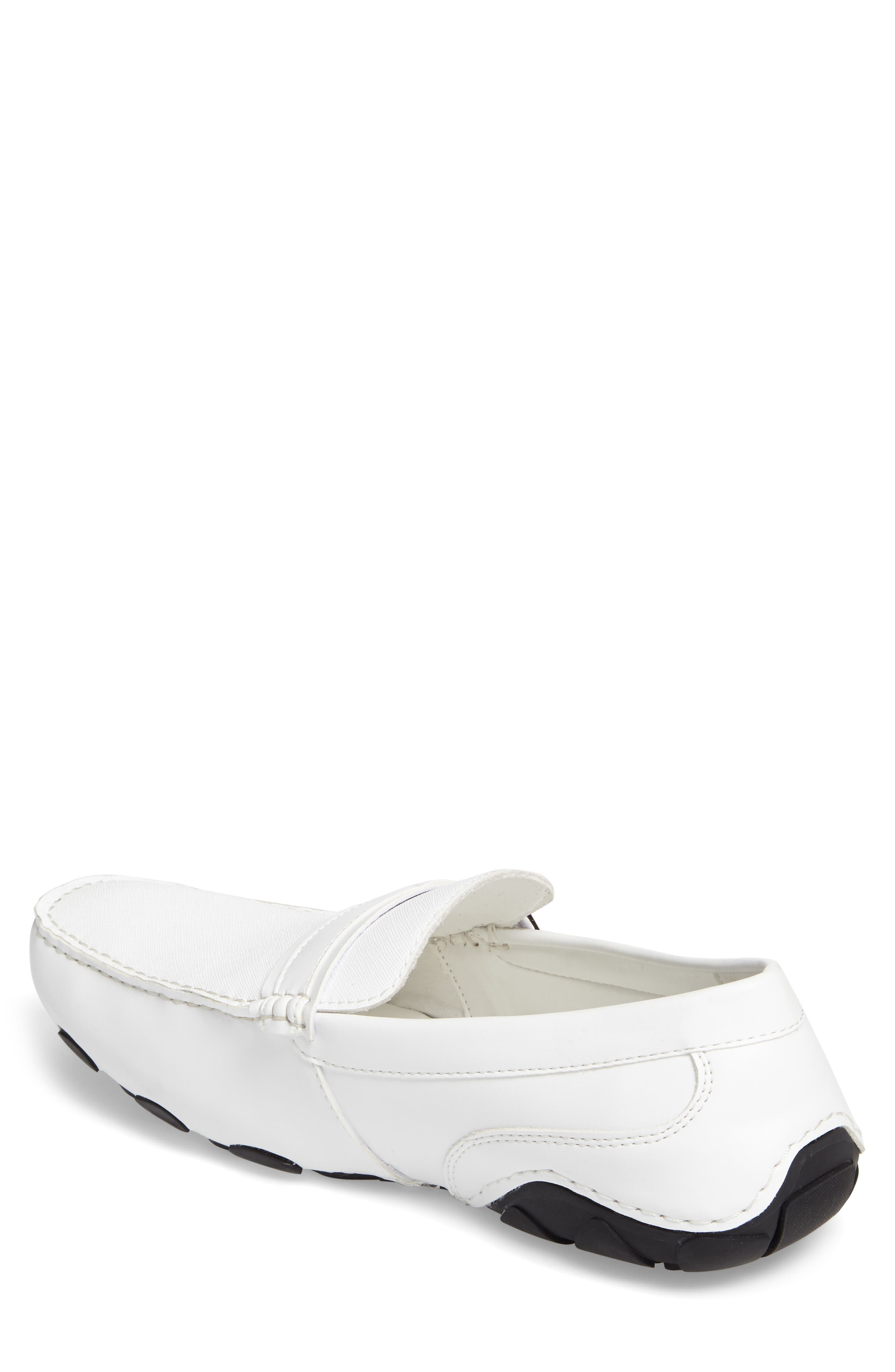 'Toast 2 Me' Driving Shoe,                             Alternate thumbnail 2, color,                             White Leather