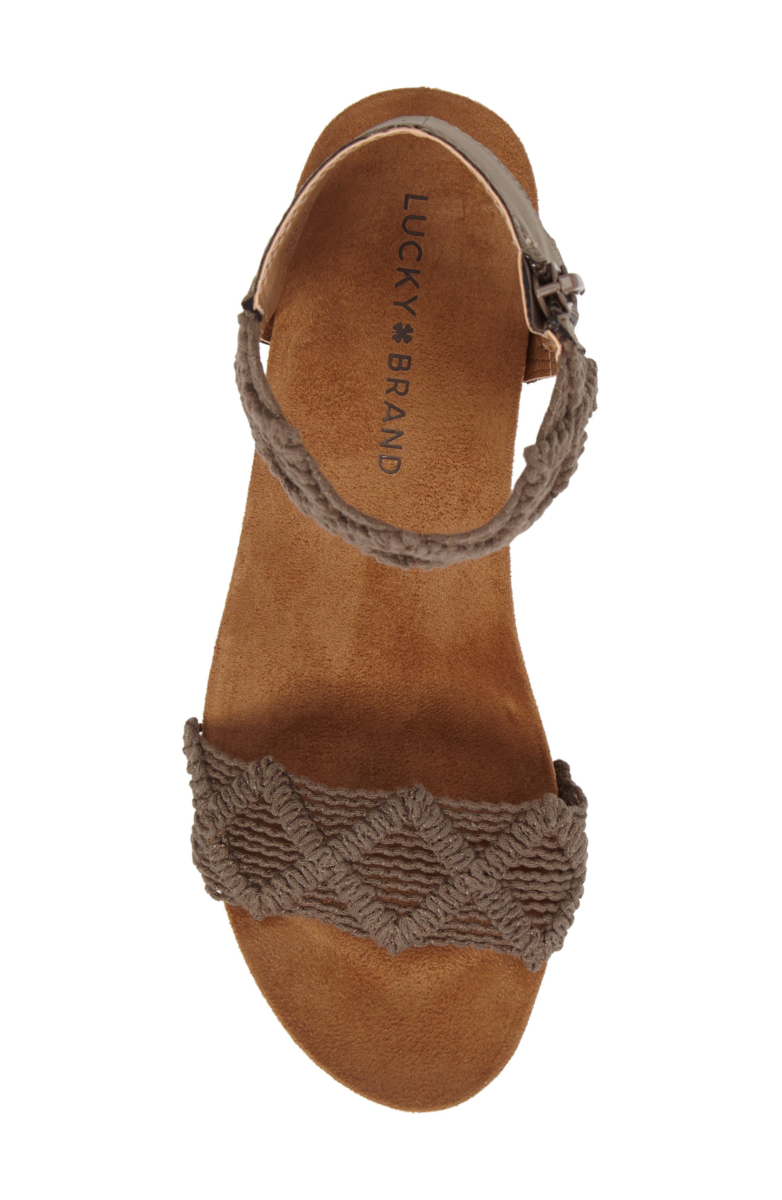 Alternate Image 5  - Lucky Brand Kierlo Wedge Sandal (Women)