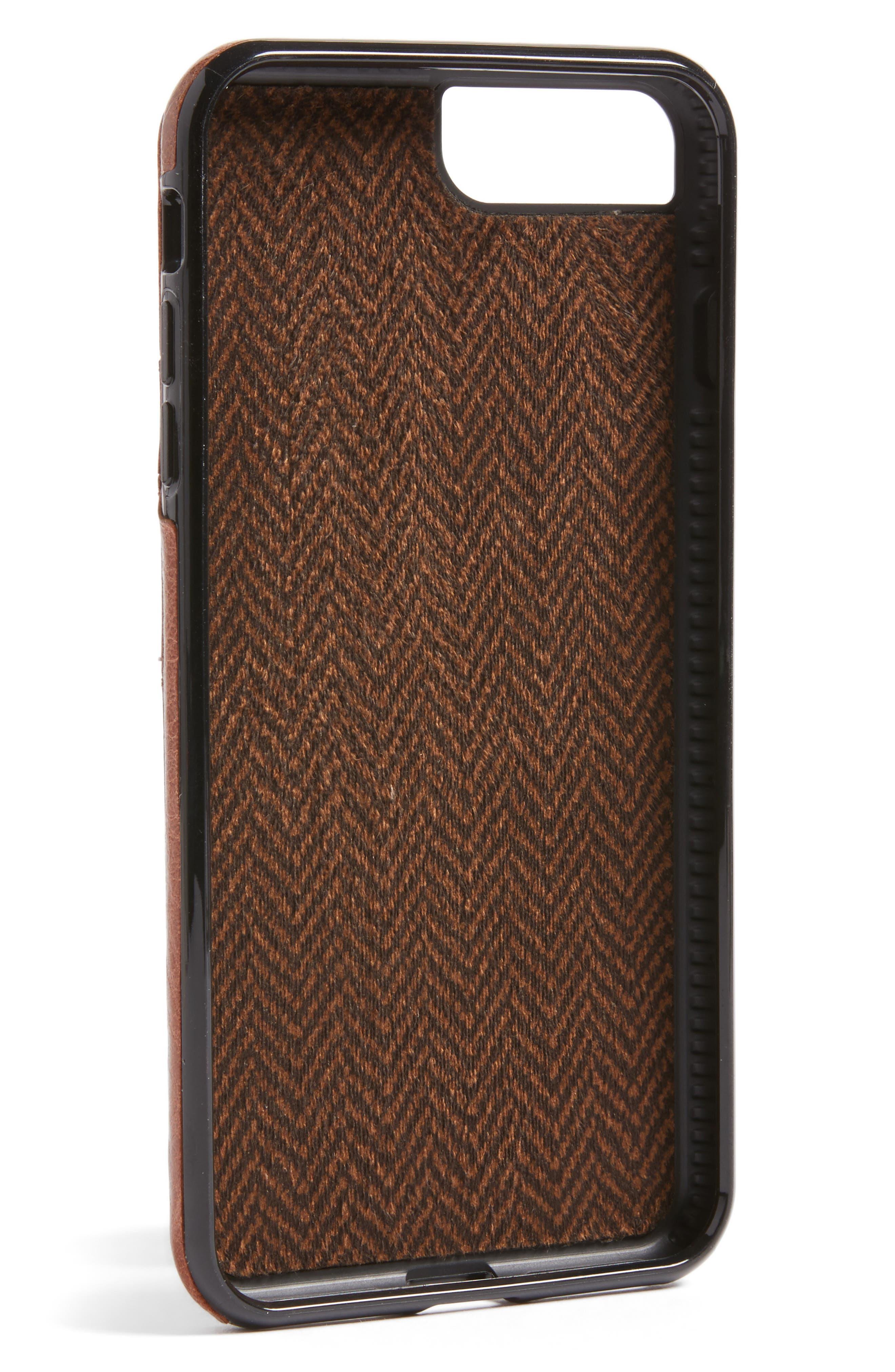 Lugano iPhone 7/8 Plus Wallet Case,                             Alternate thumbnail 2, color,                             Cognac