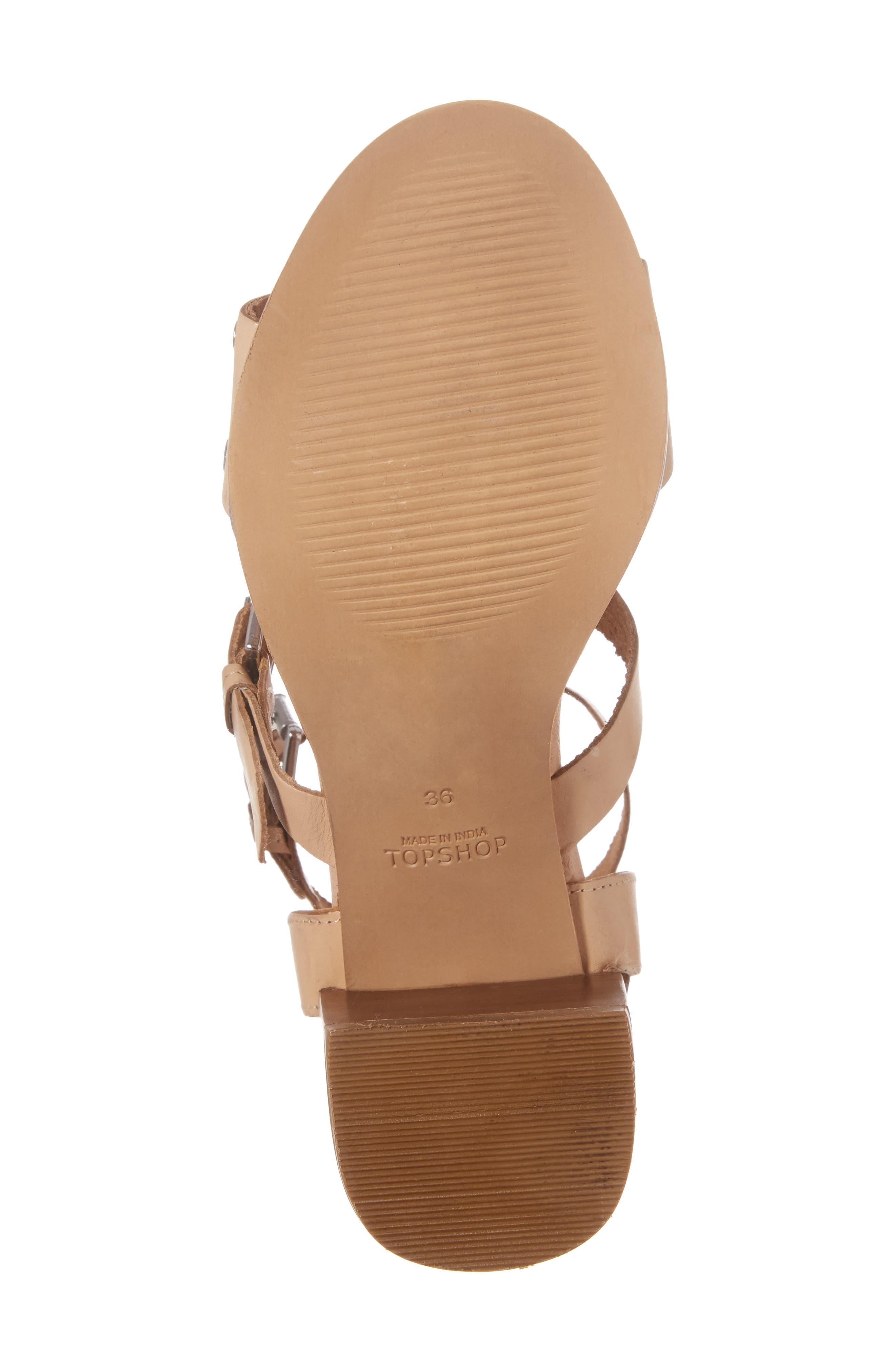 Alternate Image 6  - Topshop Vienna Grommet Sandal (Women)