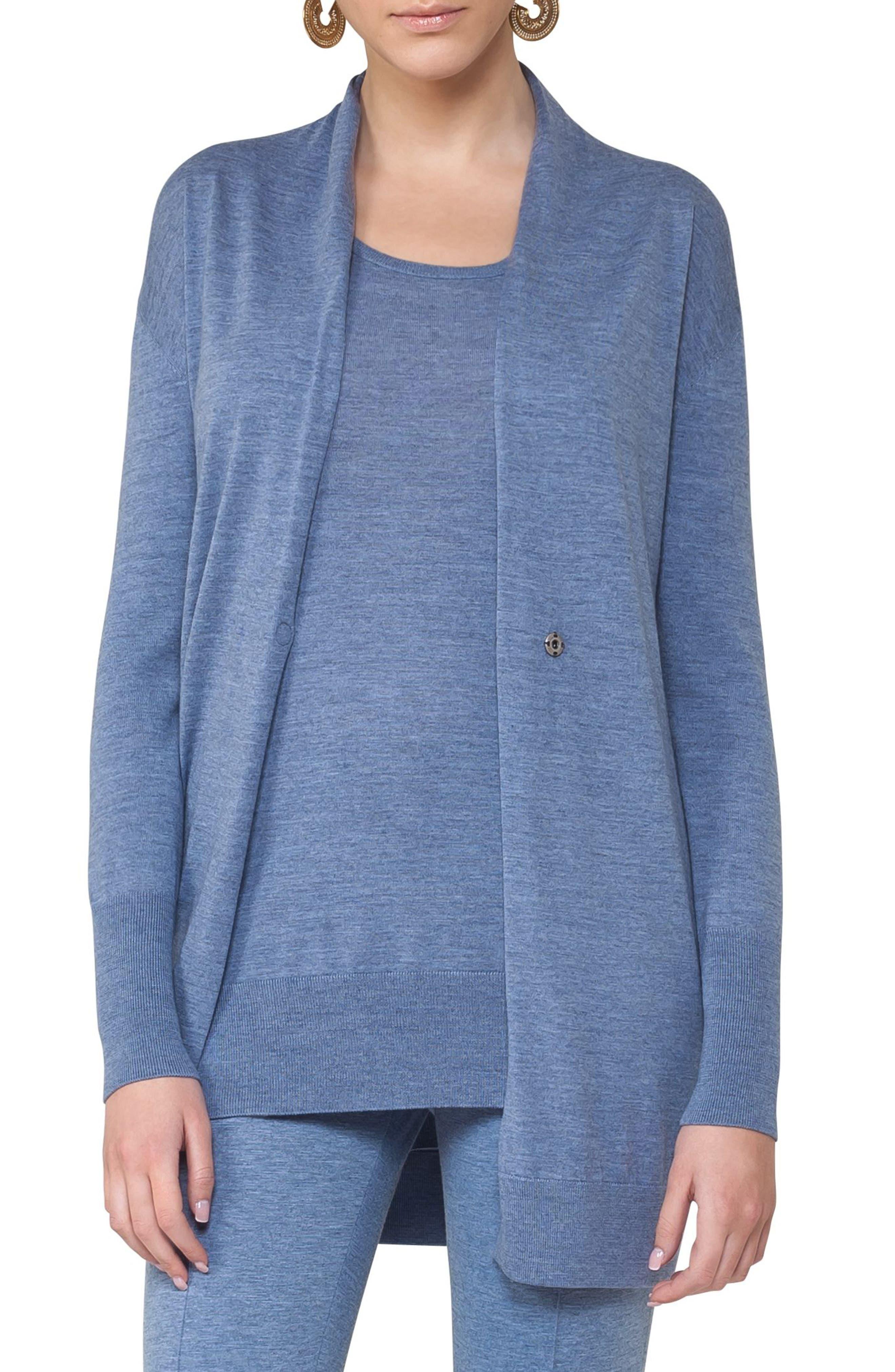Main Image - Akris punto Long Wool Cardigan