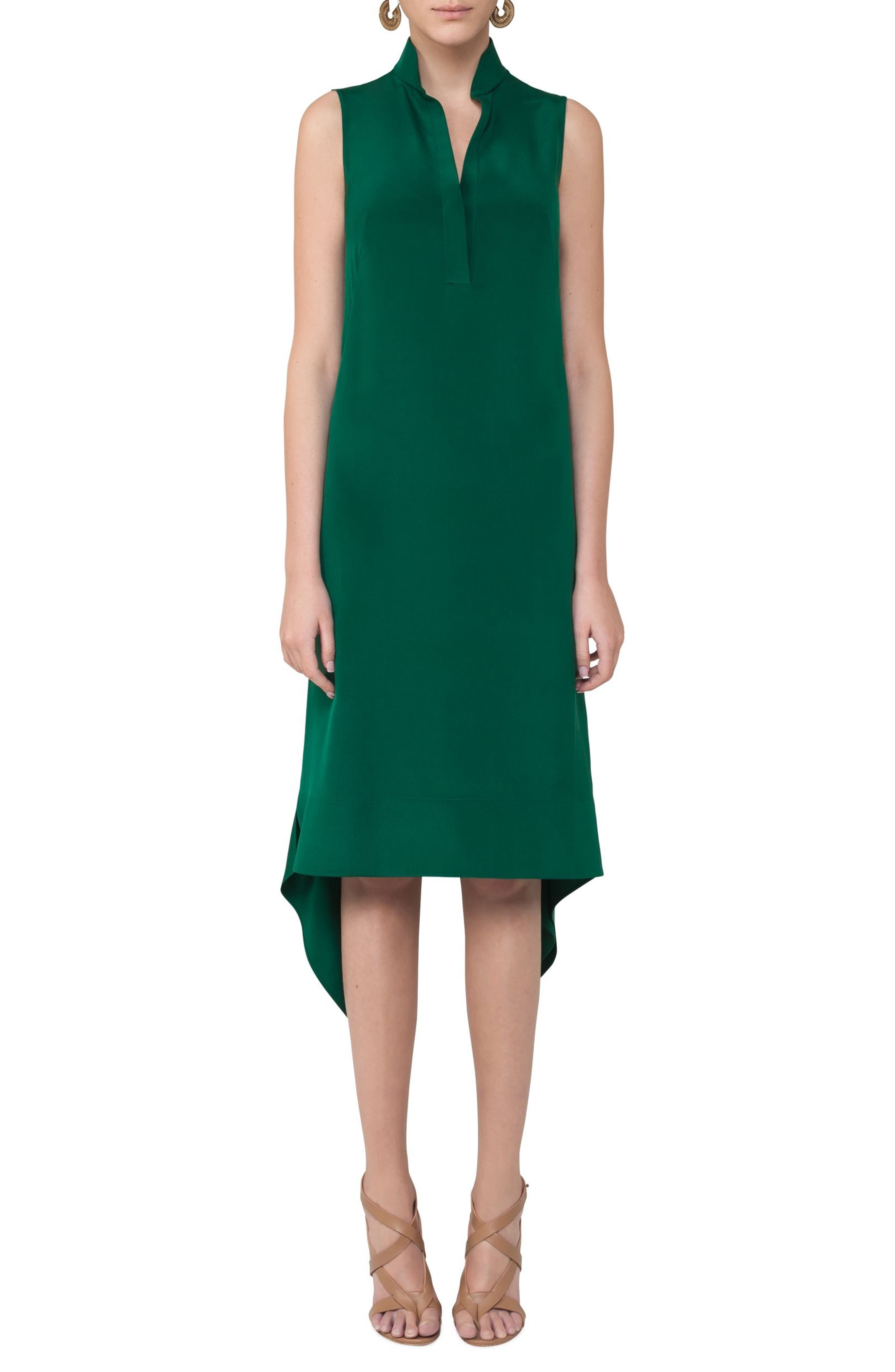 Main Image - Akris punto Handkerchief Hem Dress