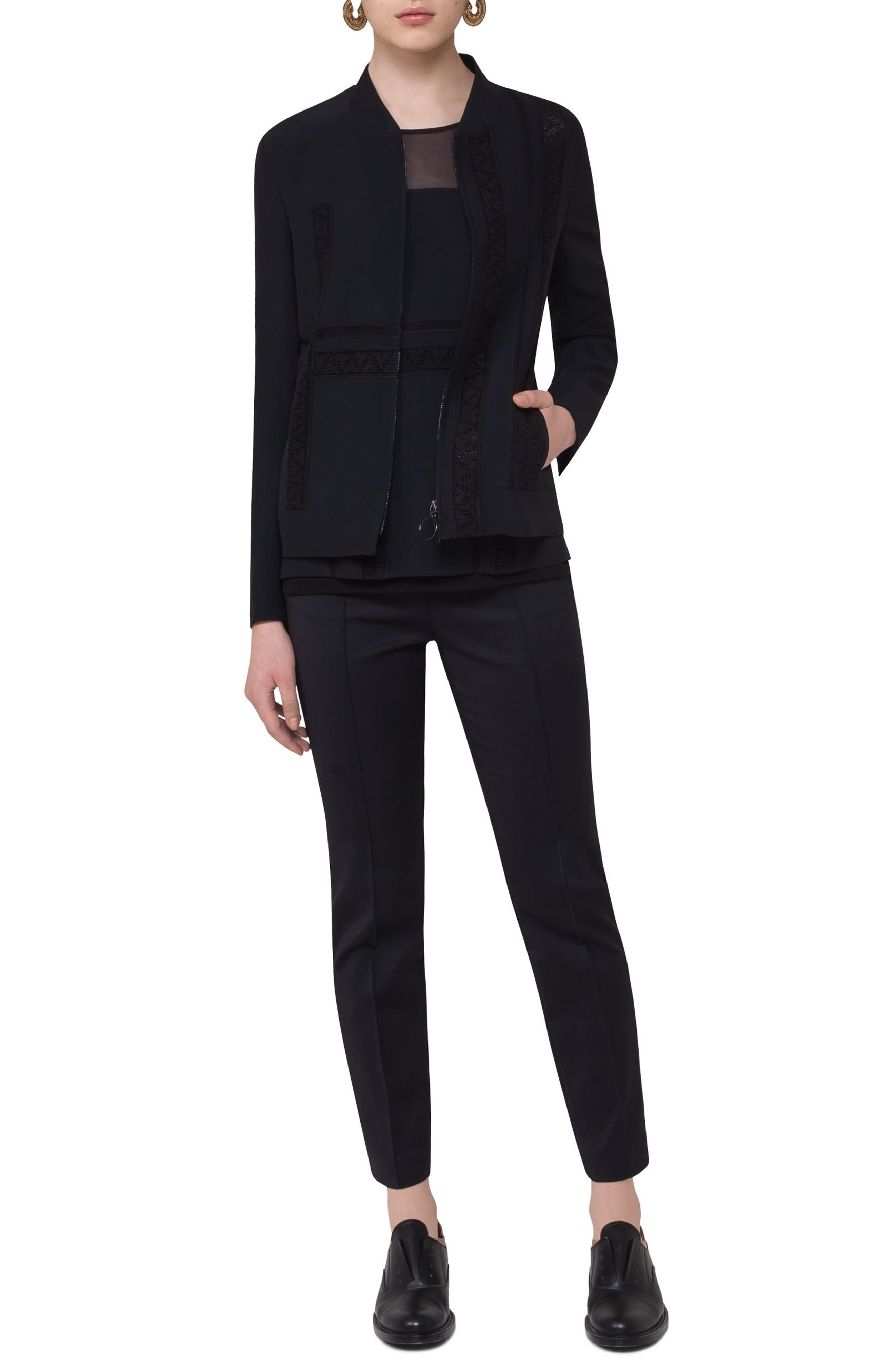Alternate Image 3  - Akris punto Lace Embellished Zip Jacket