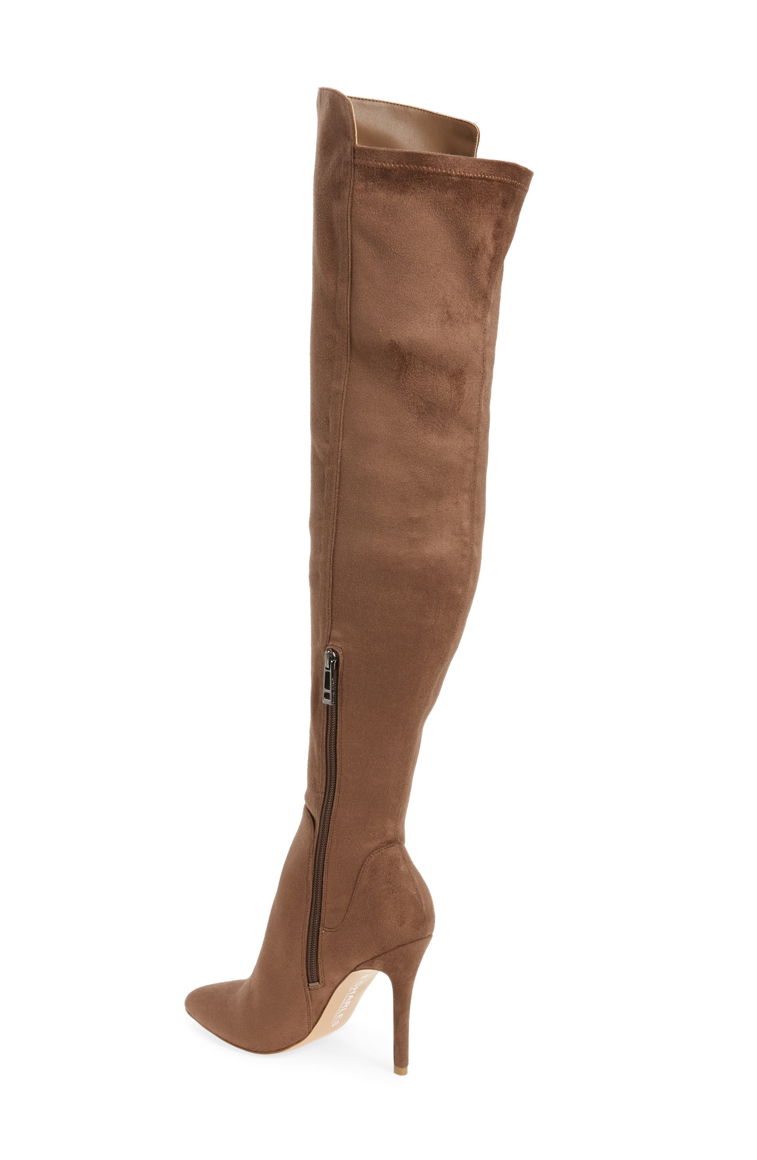 Perfect Over the Knee Boot,                             Alternate thumbnail 2, color,                             Dark Taupe Suede