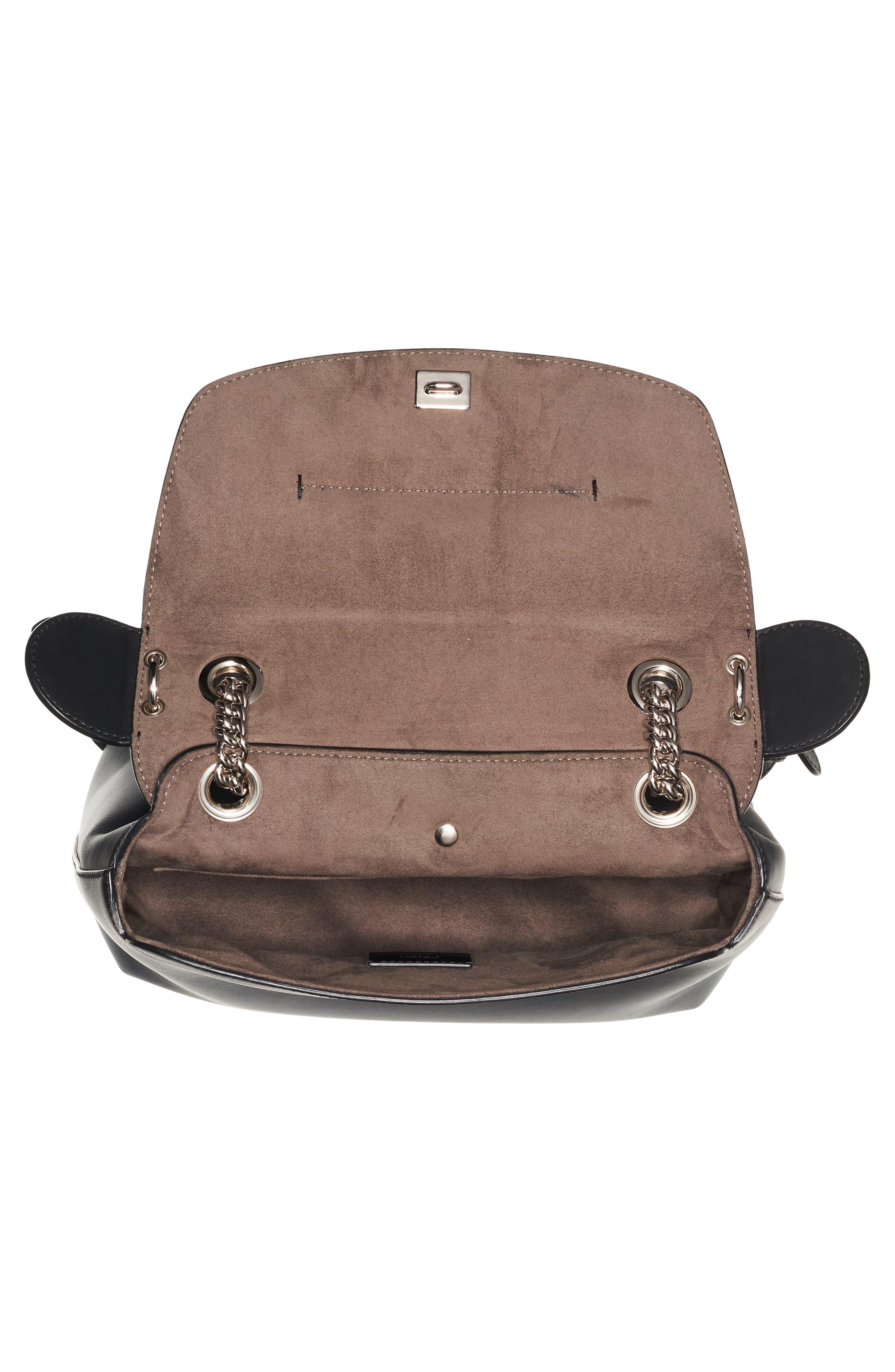 Mini Back to School Leather Backpack,                             Alternate thumbnail 5, color,                             Black Palladium