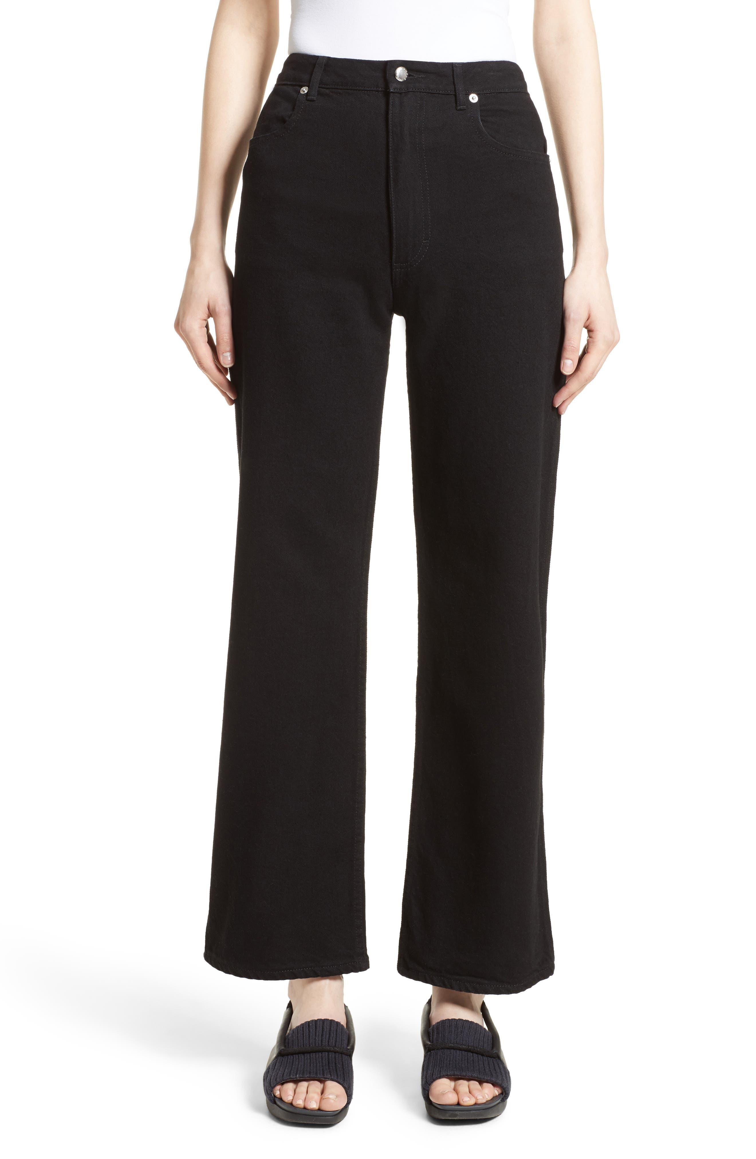 Main Image - Eckhaus Latta EL Wide Leg Jeans (Almost Black)