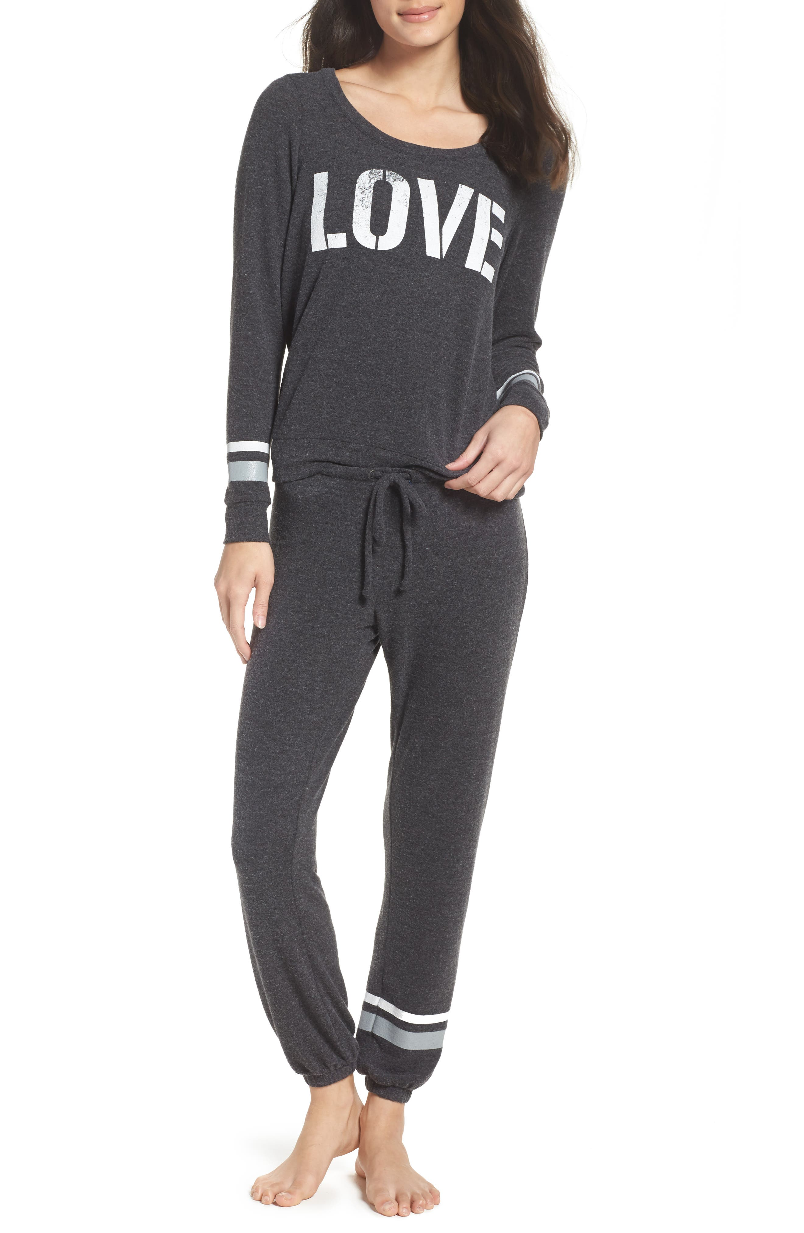 Love Lounge Jogger Pants,                             Alternate thumbnail 5, color,                             Black