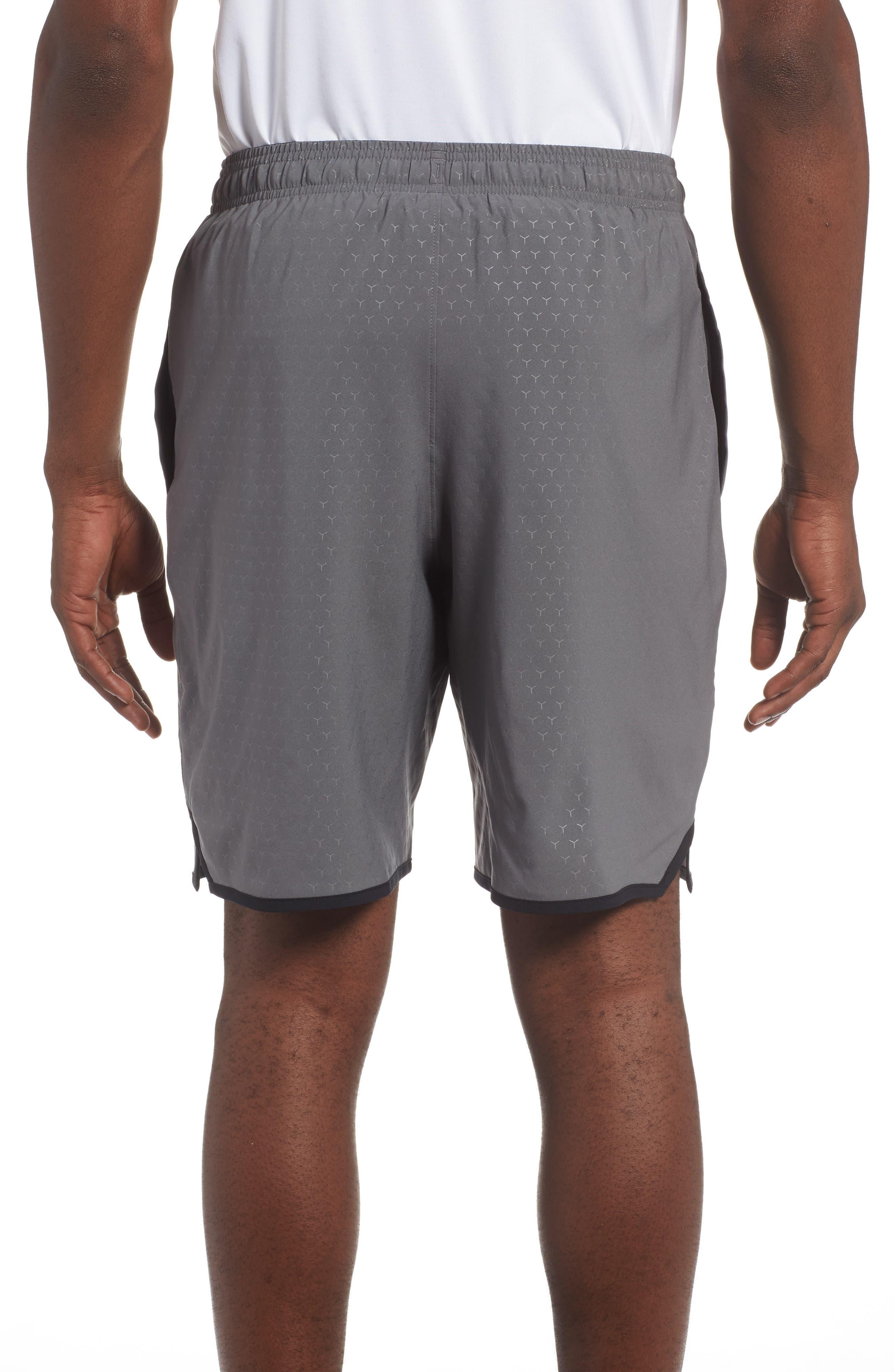 Qualifier Training Shorts,                             Alternate thumbnail 2, color,                             Graphite/ Black