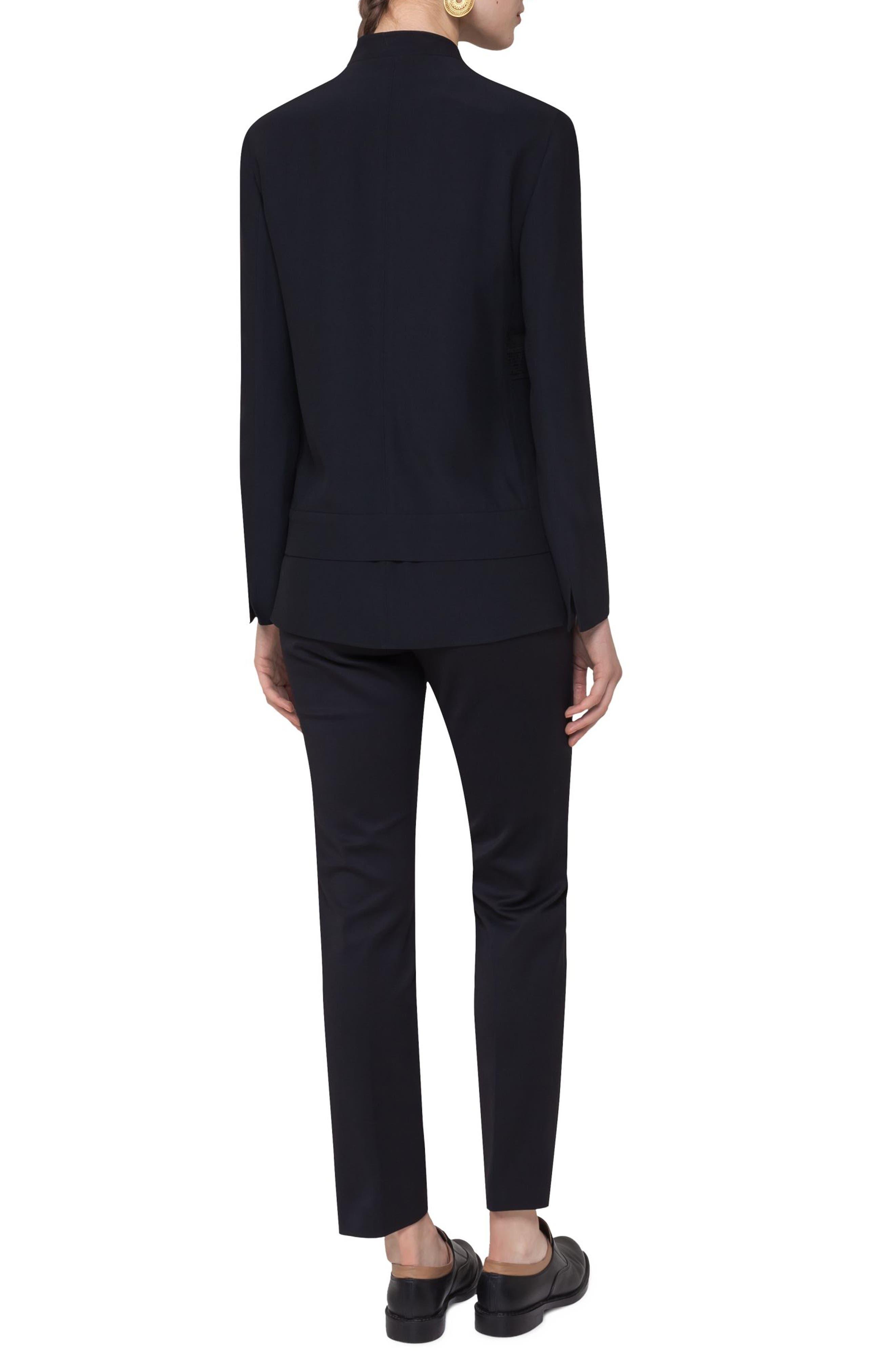 Alternate Image 2  - Akris punto Lace Embellished Zip Jacket