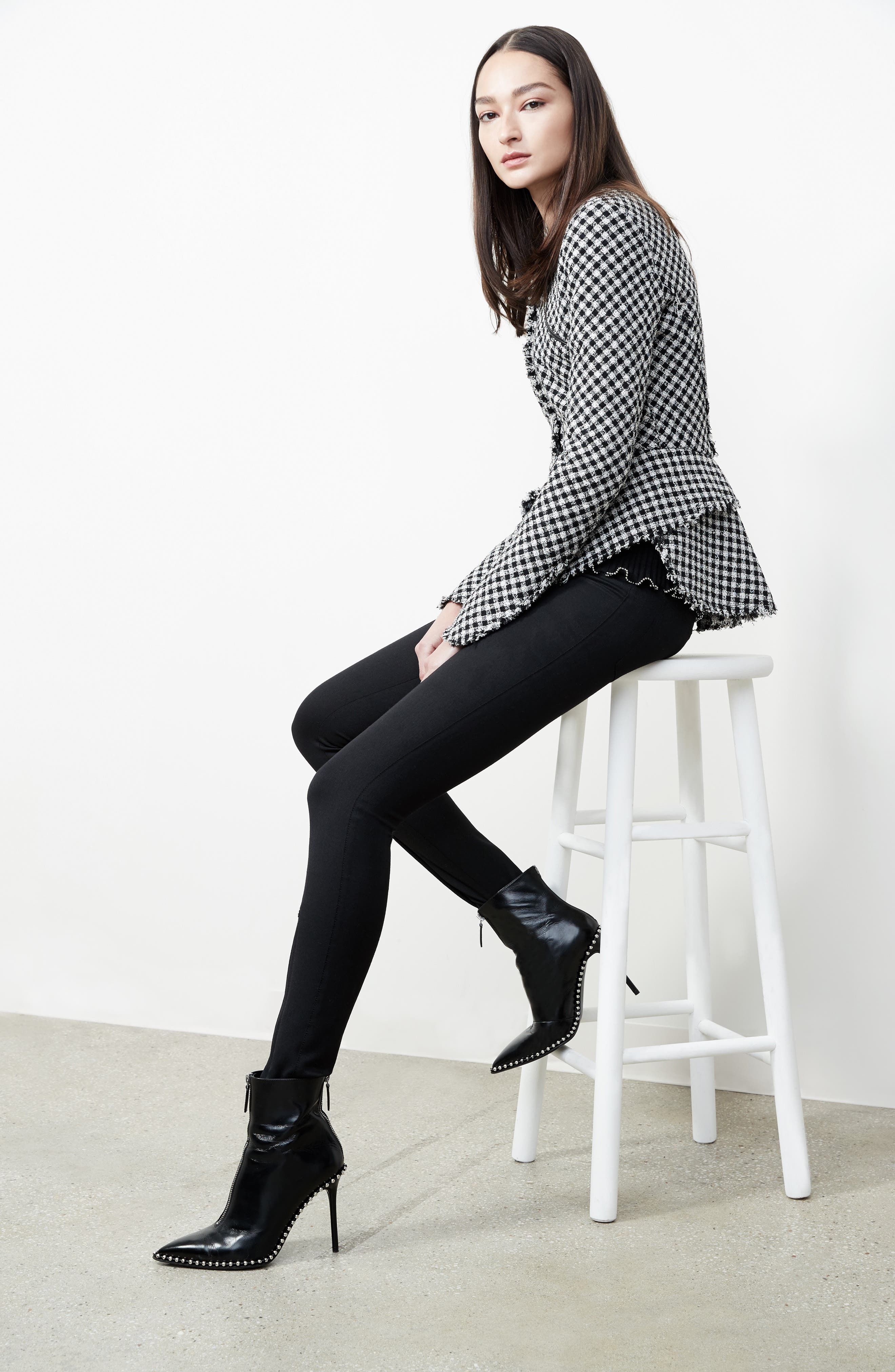 Alternate Image 9  - Alexander Wang Check Tweed Peplum Jacket