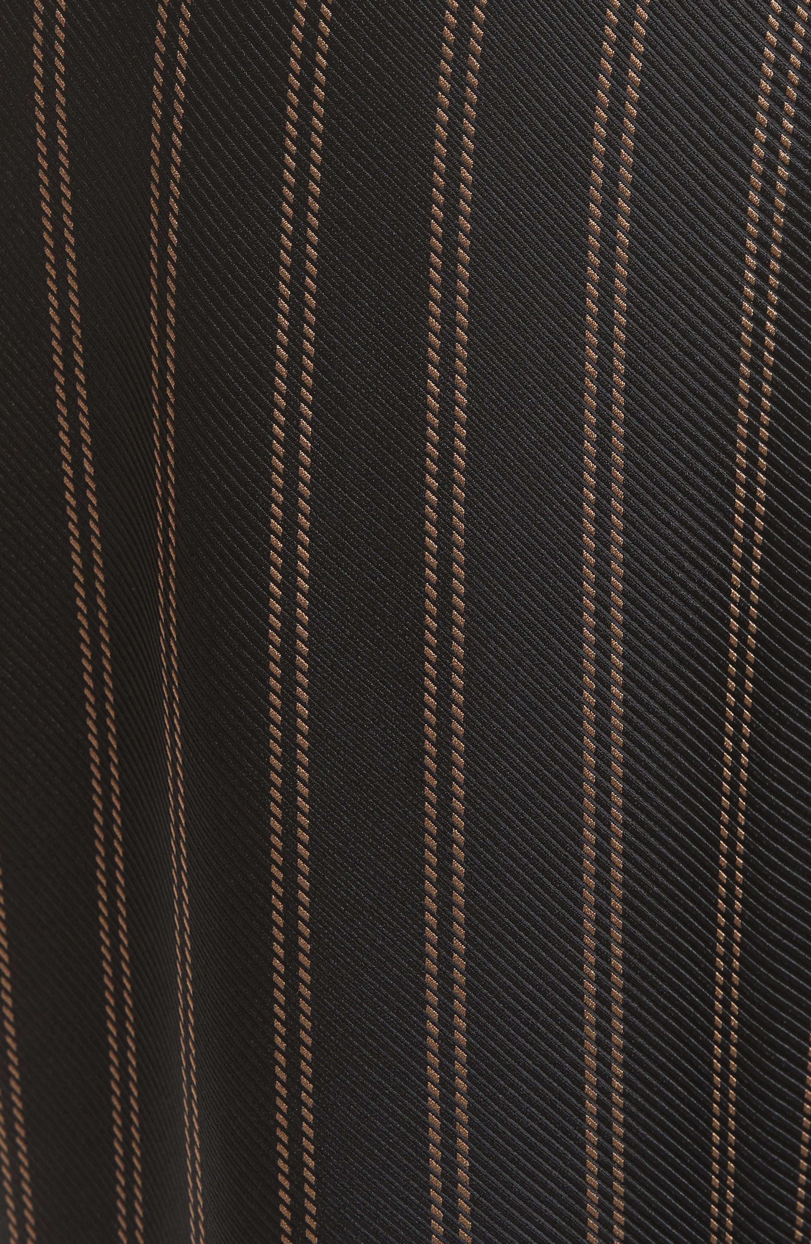 Belted Pleat Crop Pants,                             Alternate thumbnail 6, color,                             Black/ Tan