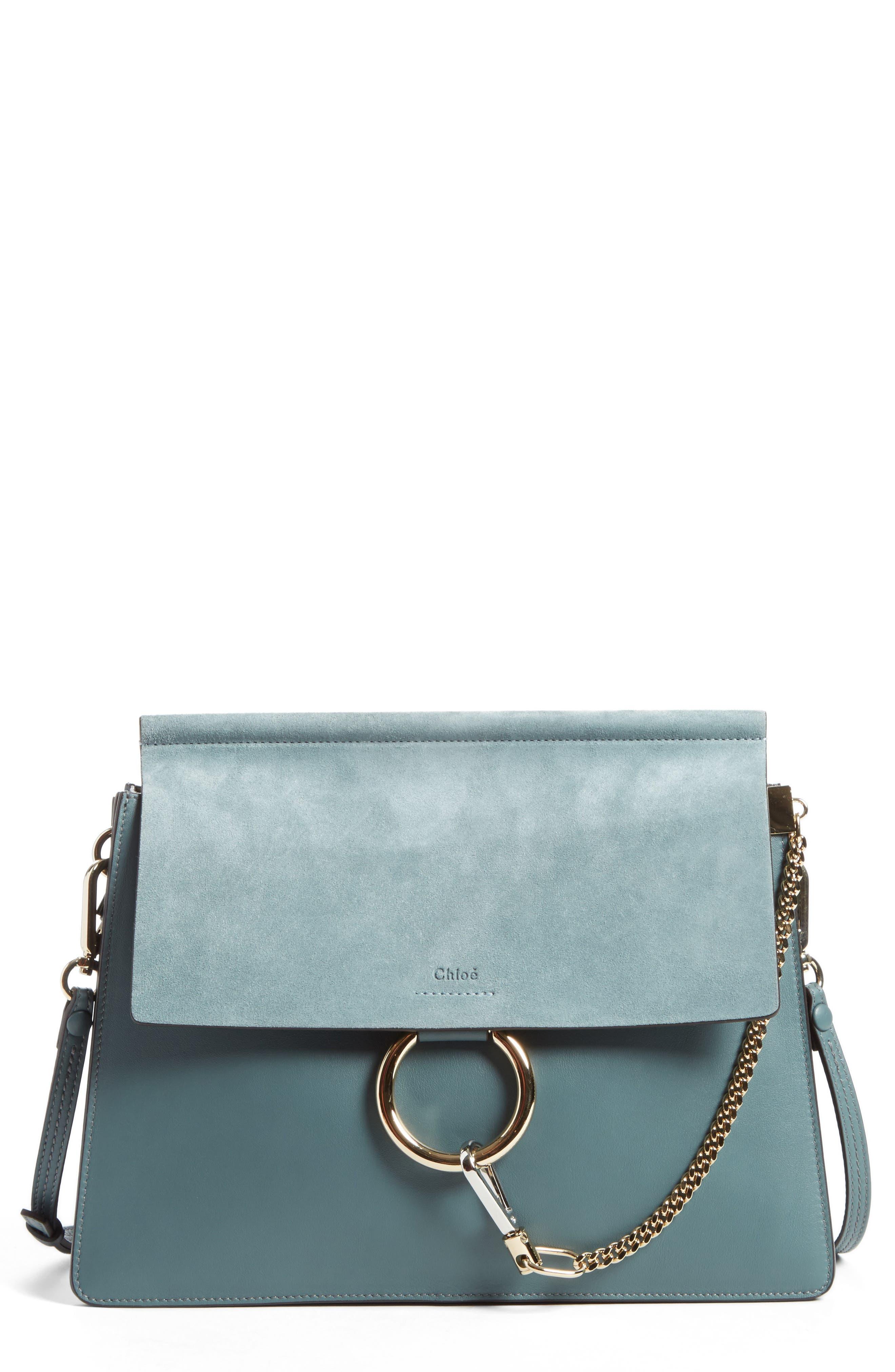 Chloé Faye Suede & Leather Shoulder Bag