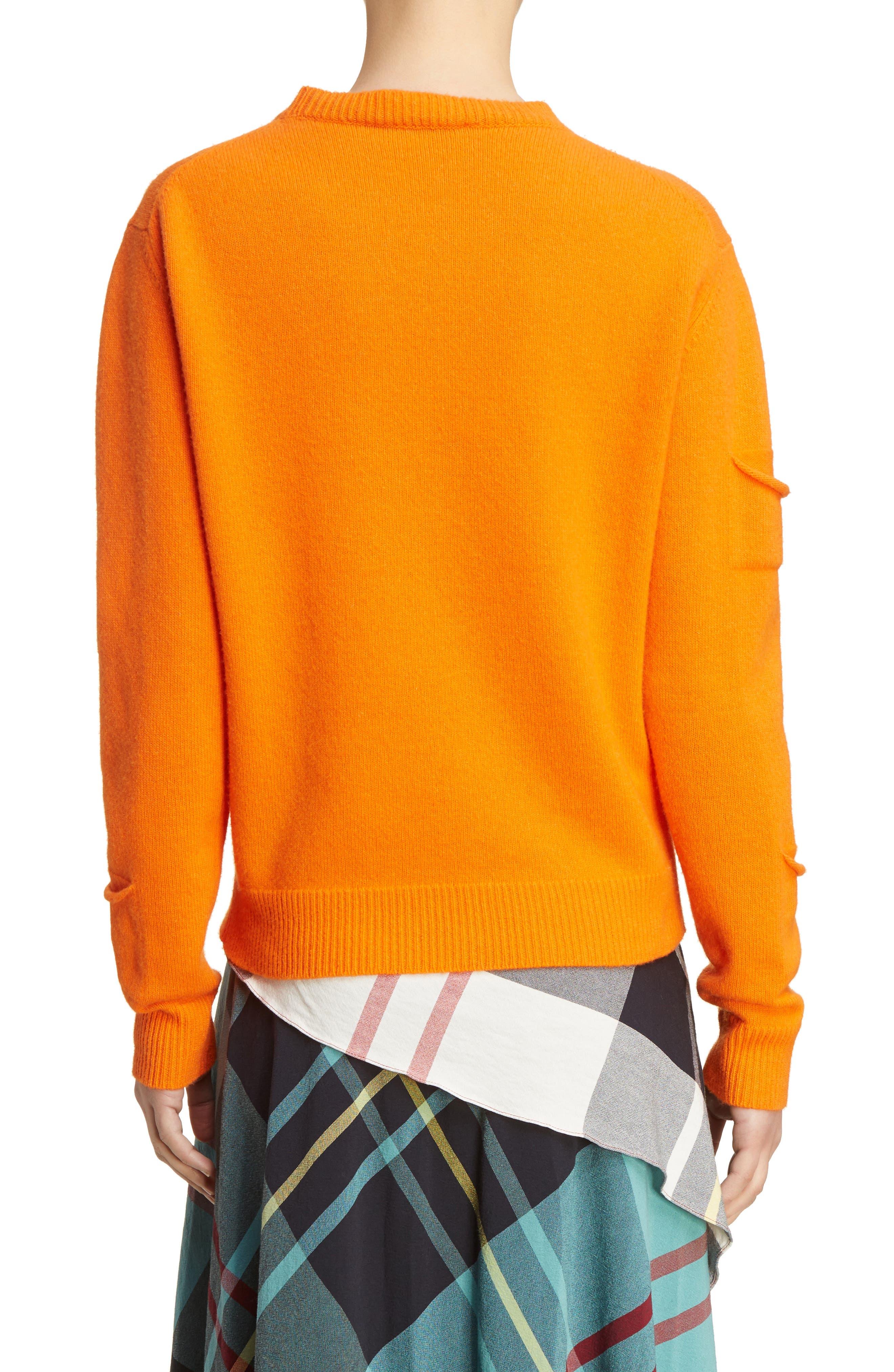 J.W.ANDERSON Multi Pocket Crewneck Sweater,                             Alternate thumbnail 2, color,                             Tangerine