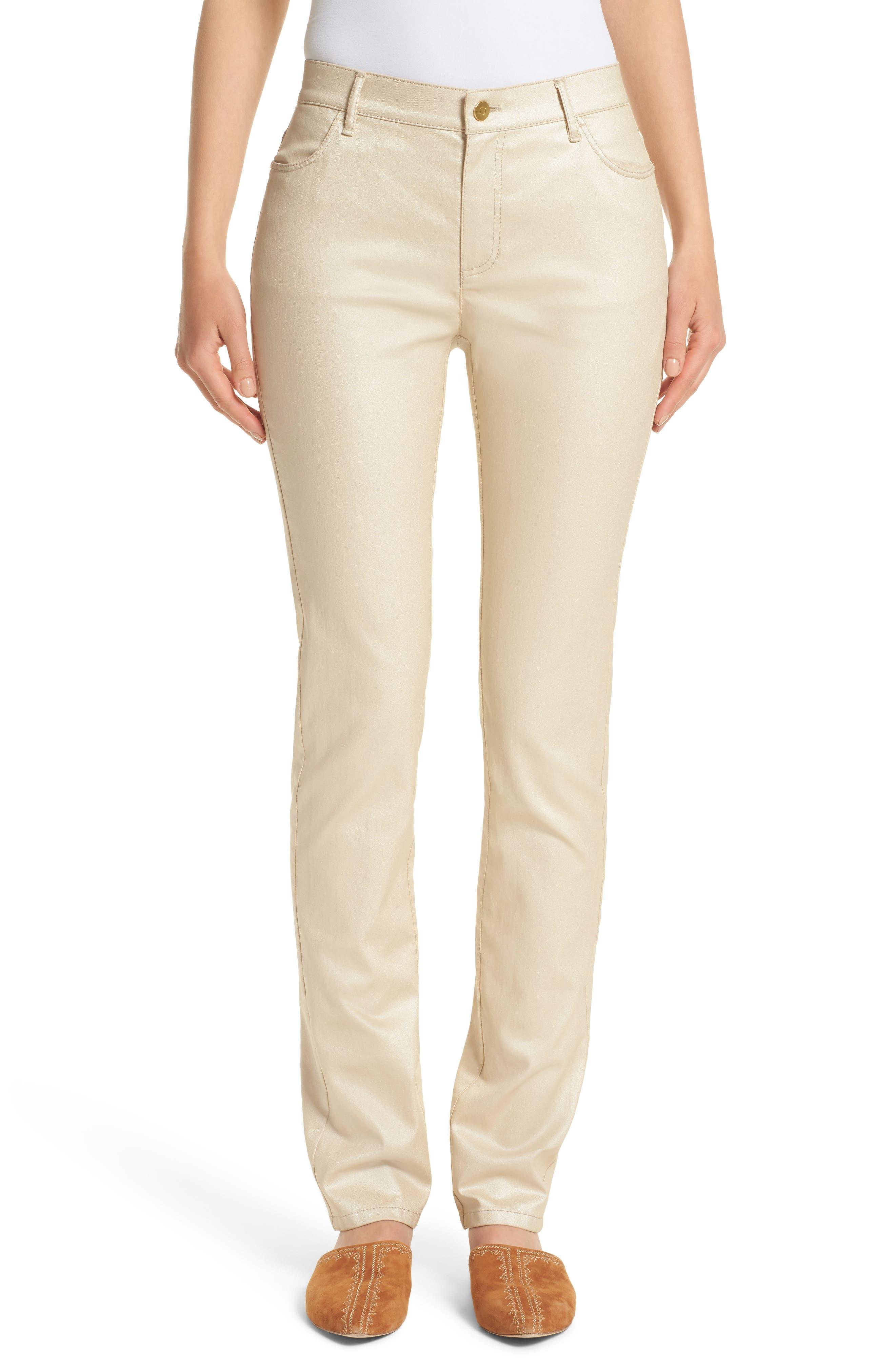 Main Image - Lafayette 148 New York Curvy Fit Skinny Jeans (Mason)