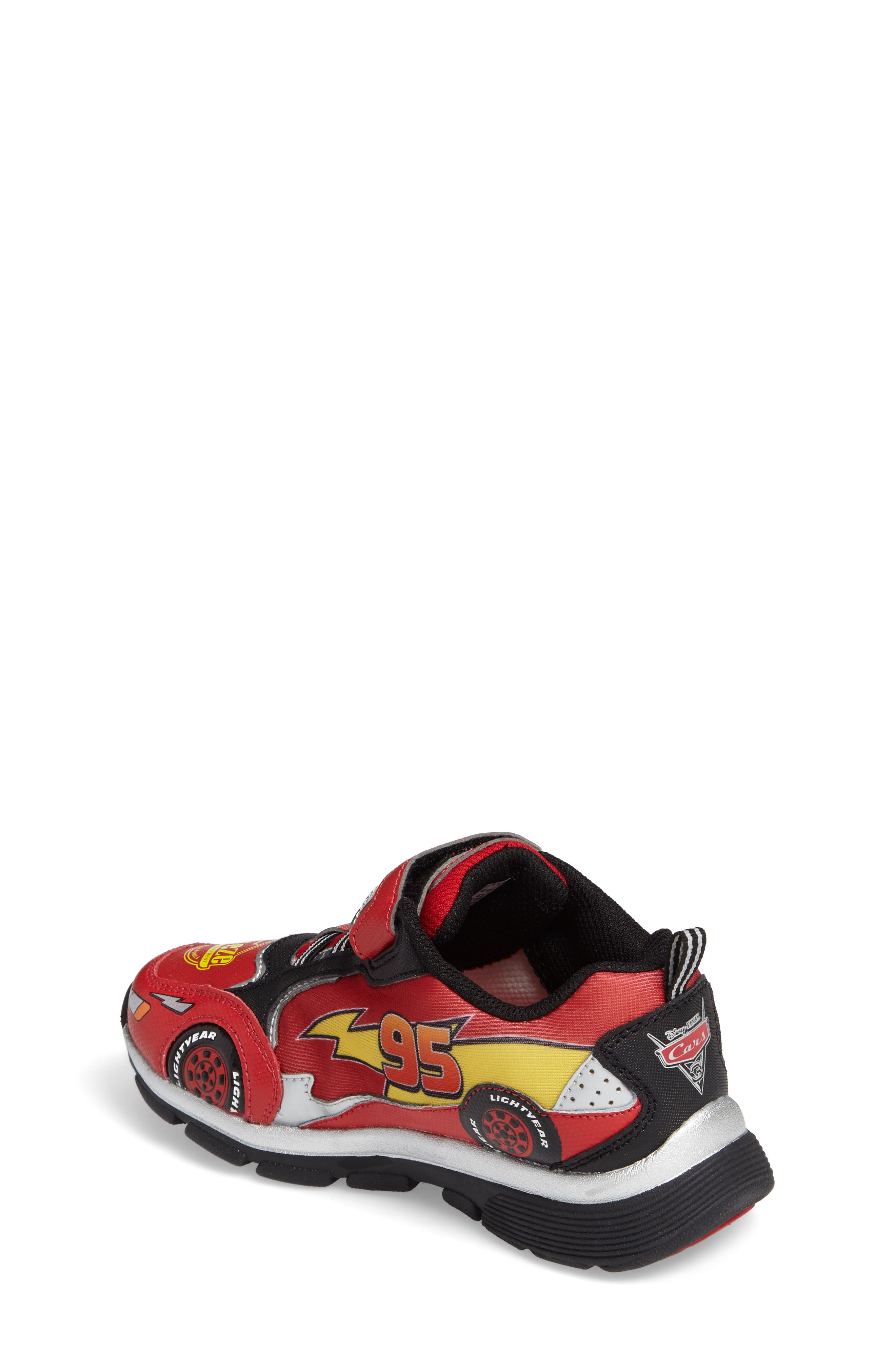 Disney Cars Sneaker,                             Alternate thumbnail 2, color,                             Red